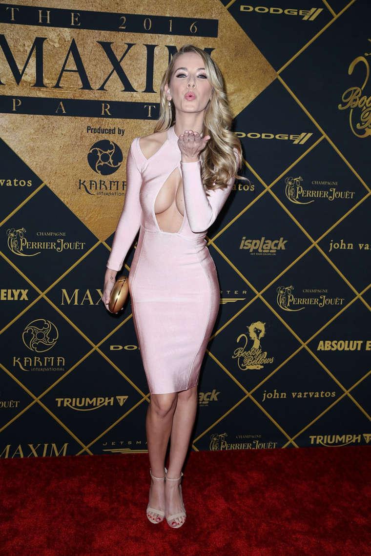 Olivia Jordan Maxim Magazine and Bootsy Bellows Super Bowl Party in San Francisco