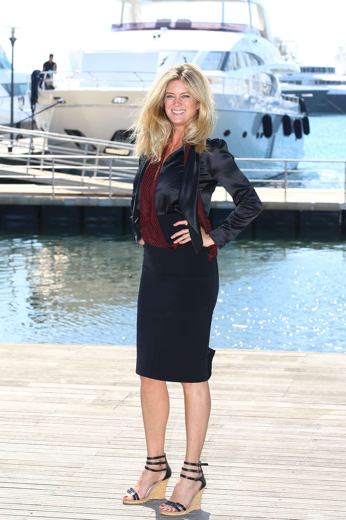 Rachel Hunter Rachels Tour Of Beauty Photocall at MIPTV in Cannes