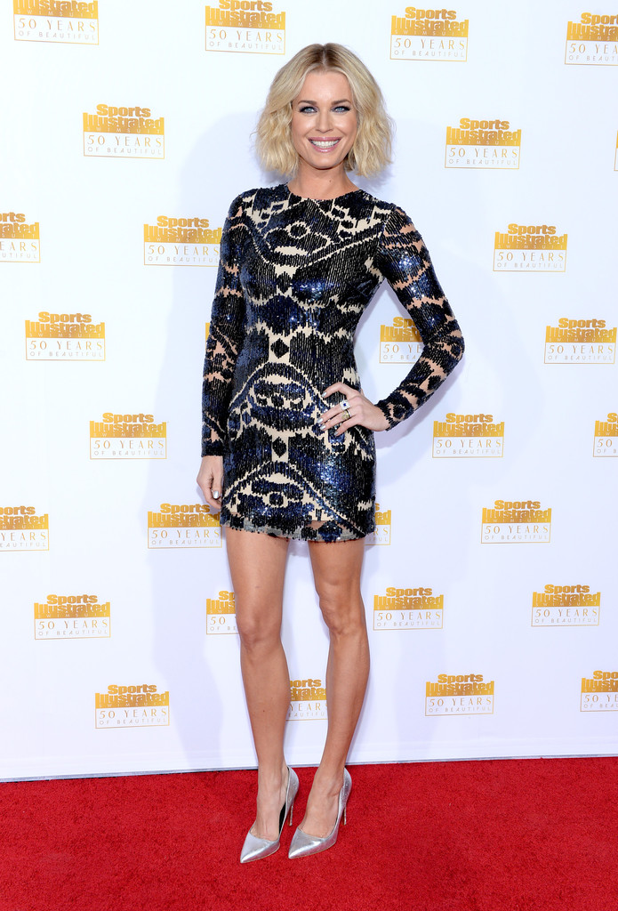 Rebecca Romijn Anniversary of the SI Swimsuit Issue Celebration in Hollywood