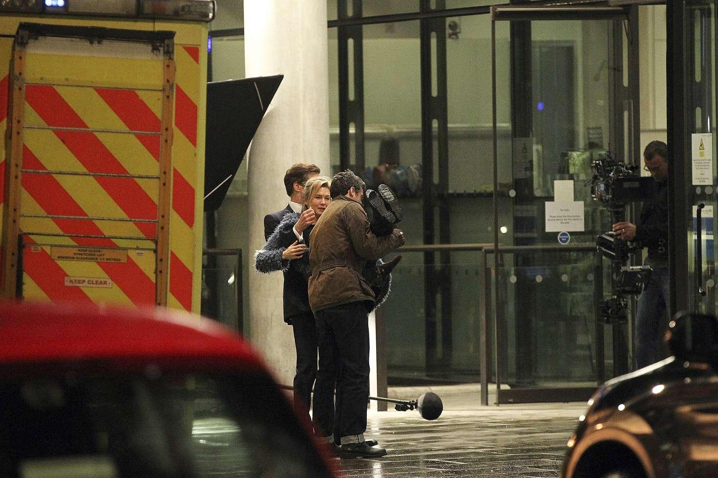 Renee Zellweger on the set of Bridget Joness Baby in London