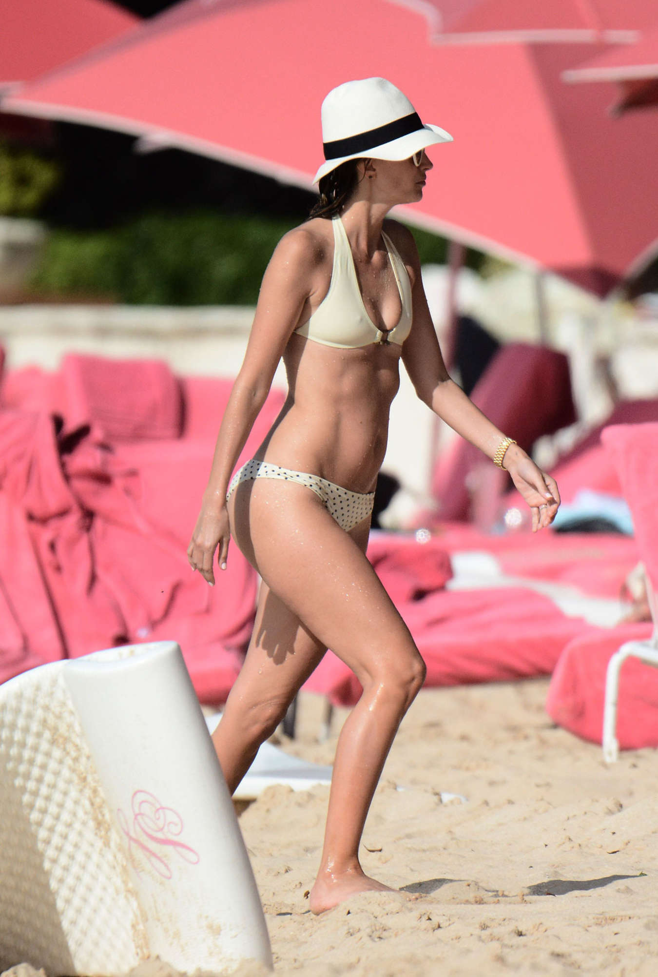 Rhea Durham Wearing Bikini on the Beach in Barbados