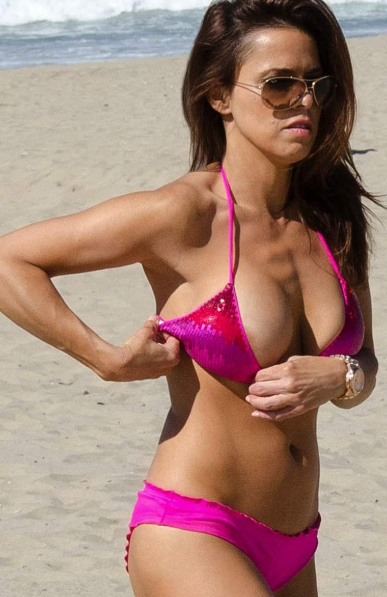 Rosa Blasi Bikini Candids in Hermosa Beach