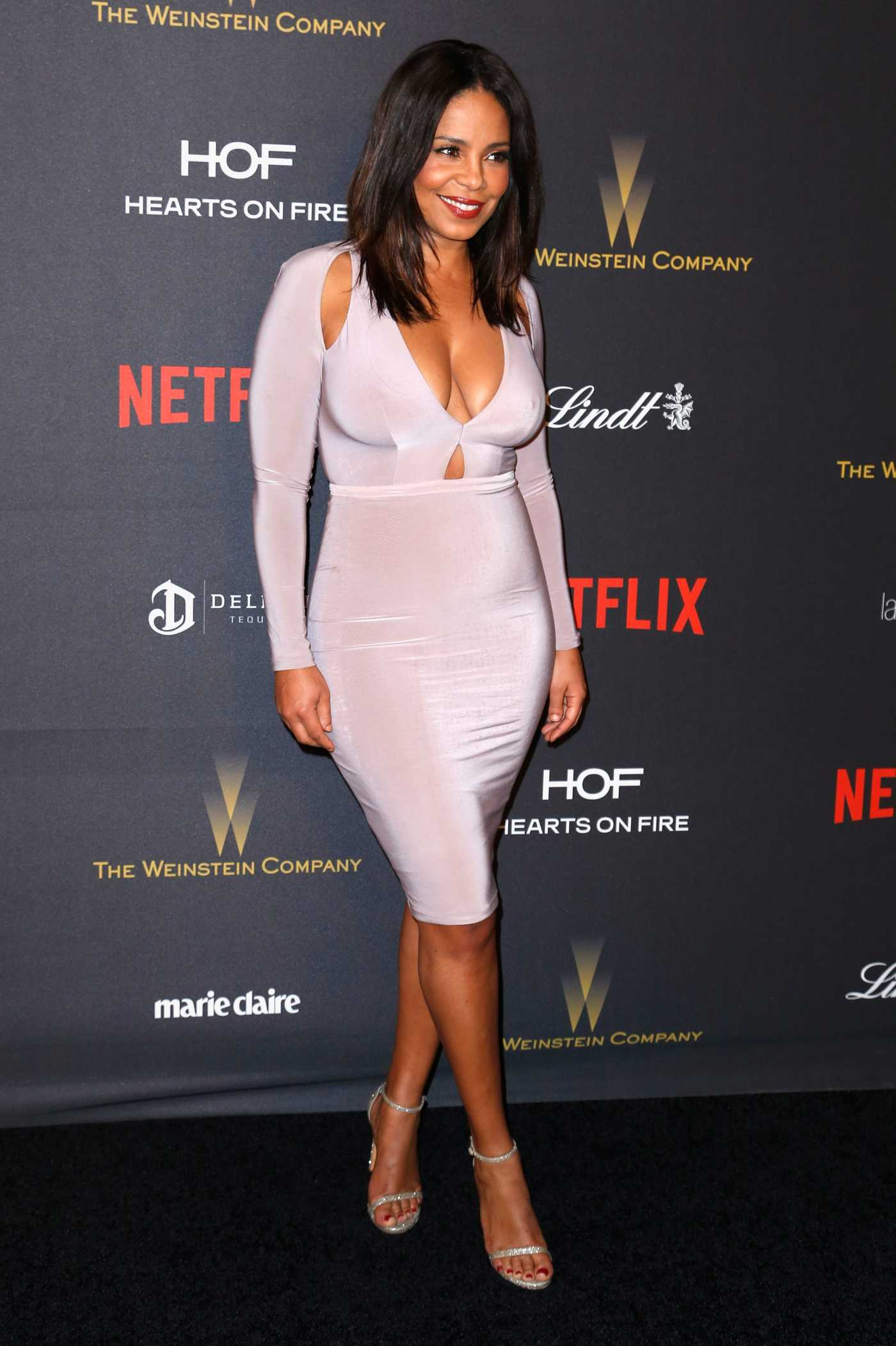 Sanaa Lathan Weinstein Company and Netflix Golden Globes After Party in Los Angeles