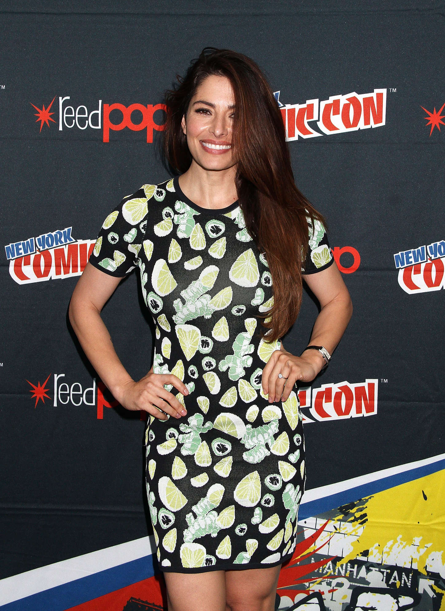 Sarah Shahi Promoting Person of Interest at New York Comic-Con in New York