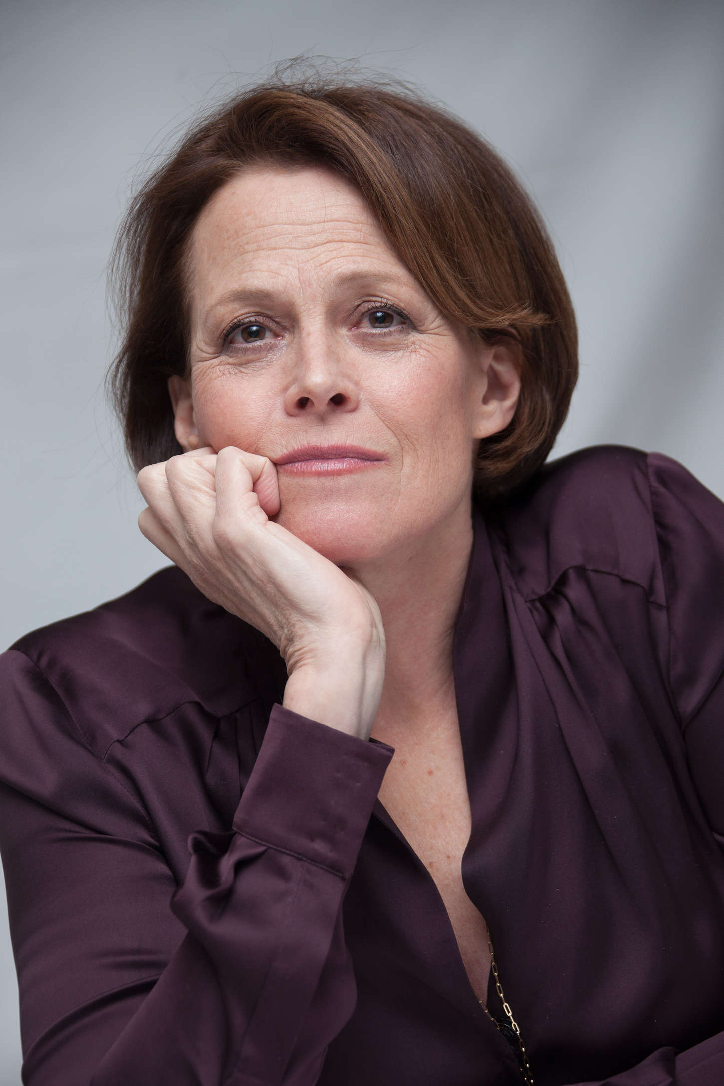 Sigourney Weaver Chappie Press Conference Portraits in New York