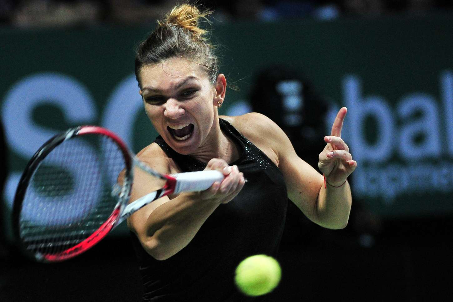 Simona Halep at WTA Finals in Singapore