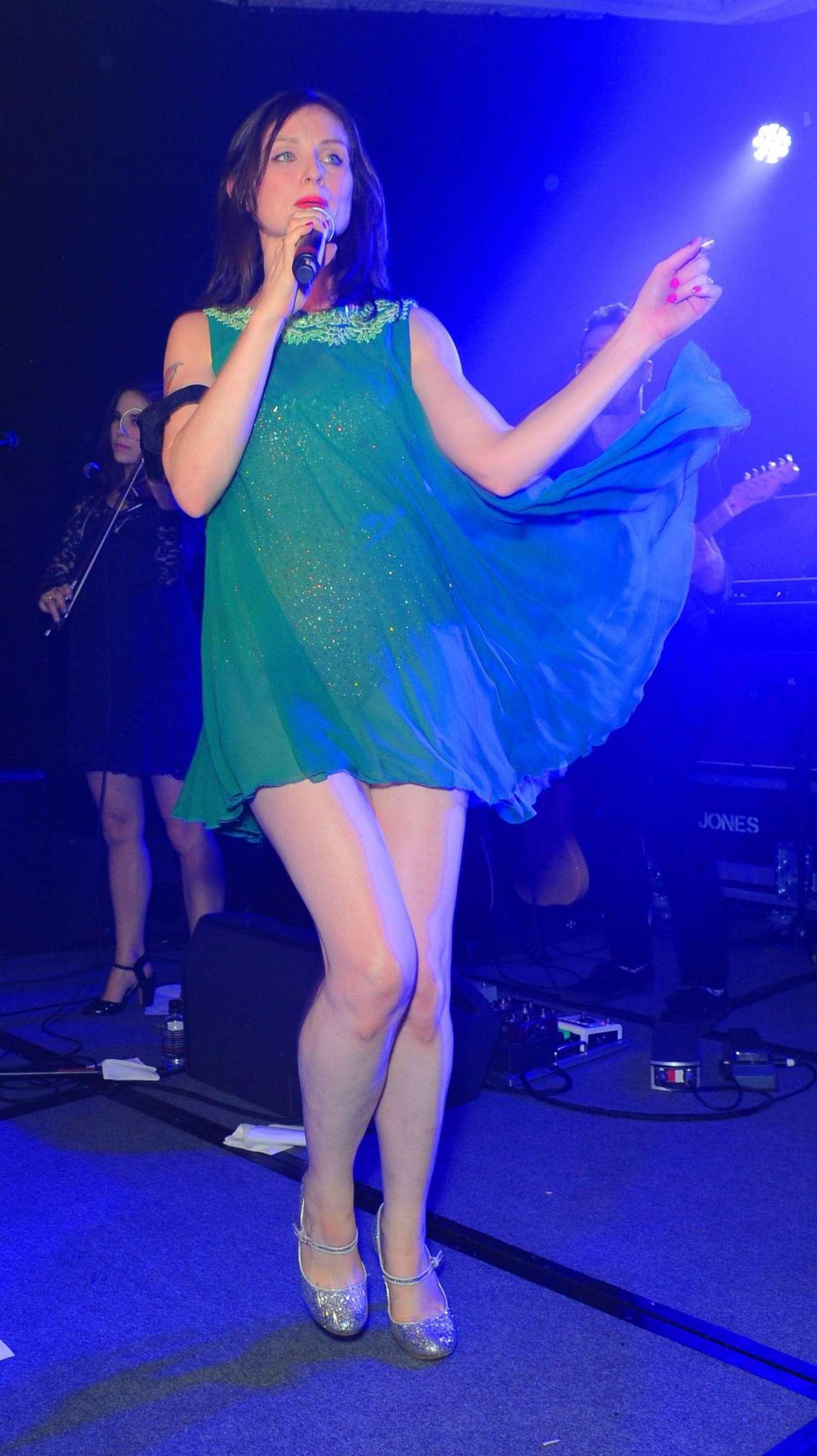 Sophie Ellis Bextor Performing at the Caron Keating Anniversary Dinner in London