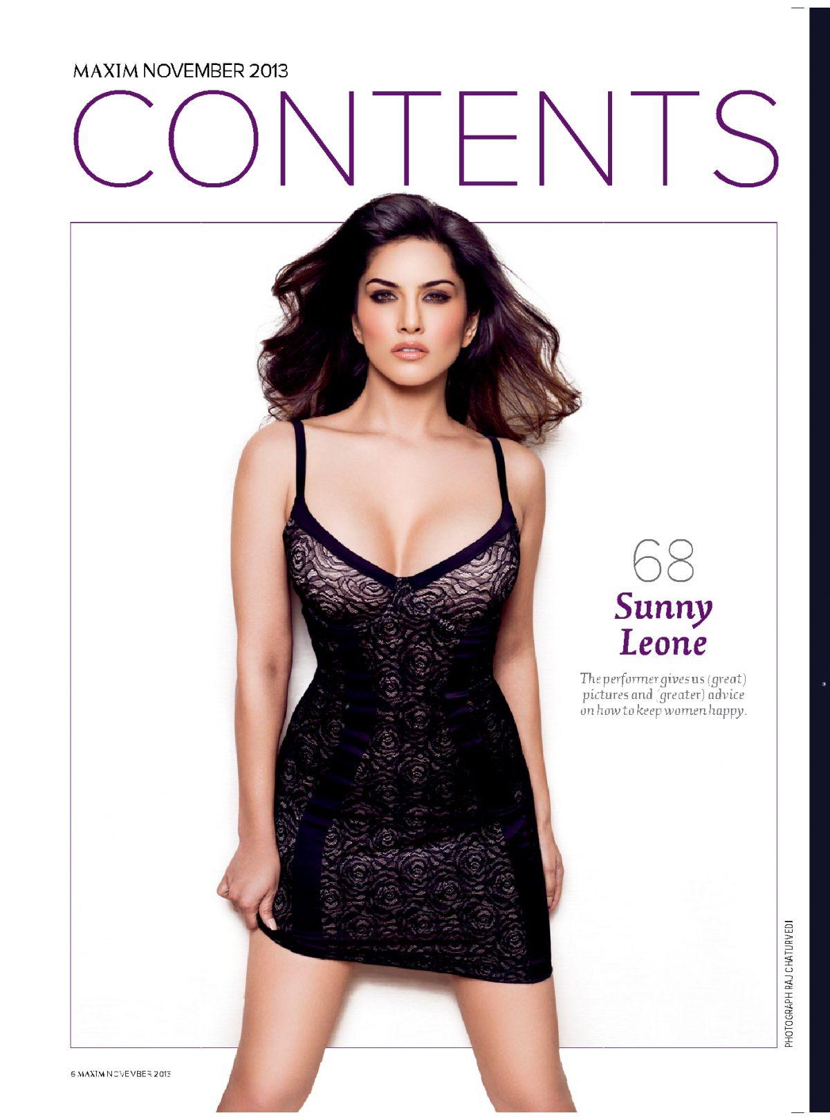 Sunny Leone Maxim India Magazine