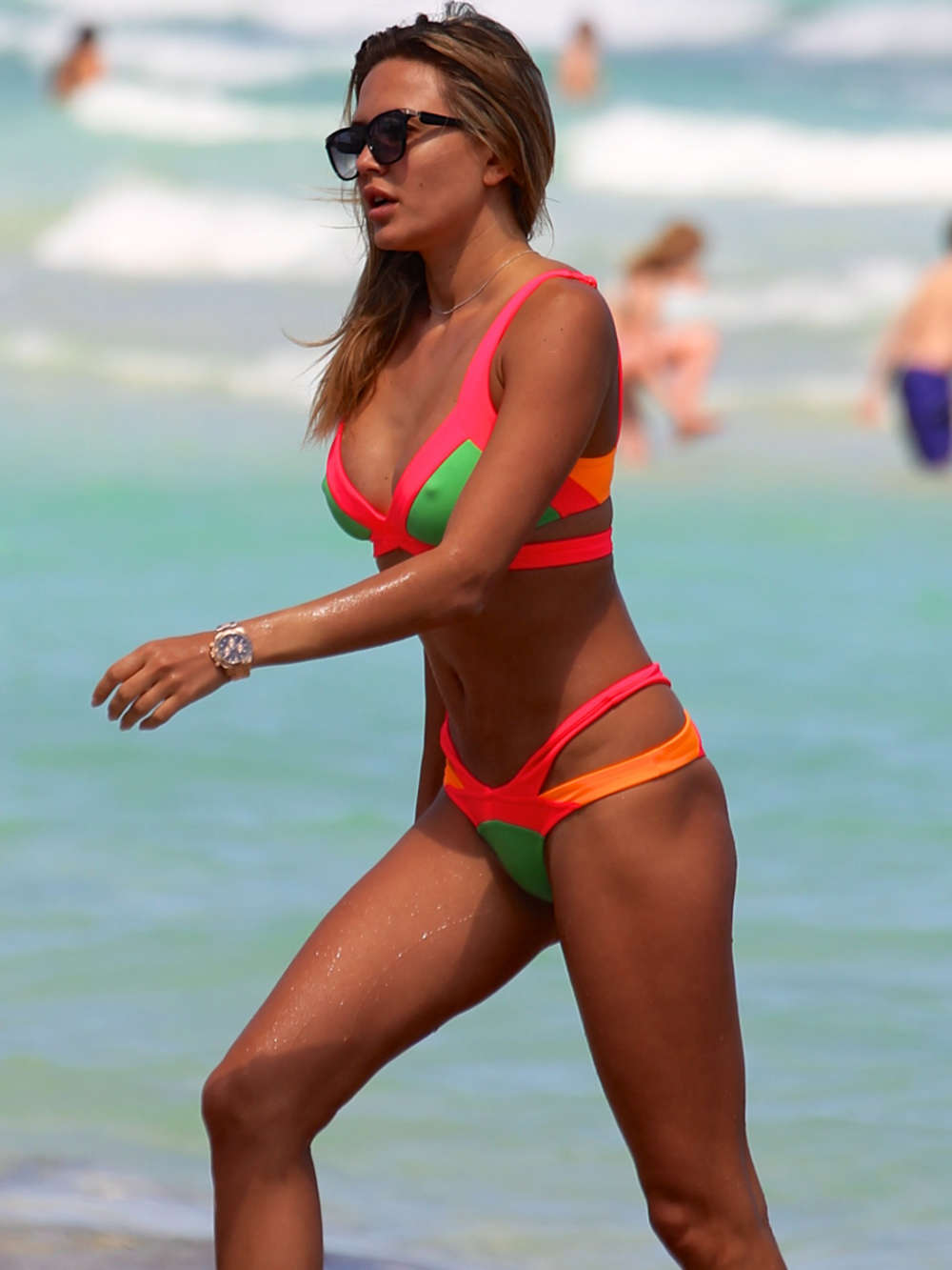 Tetyana Veryovkina Wearing Bikini on the Beach in Miami