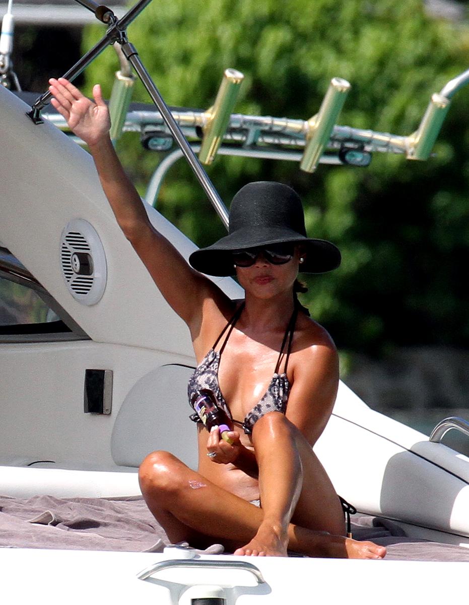 Vanessa Minnillo Bikini Candids Honeymoon in St.Barts