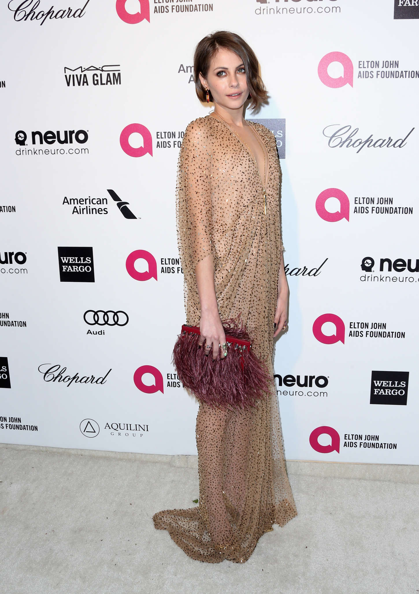 Willa Holland Annual Elton John AIDS Foundation Academy Awards Viewing Party in Los Angeles