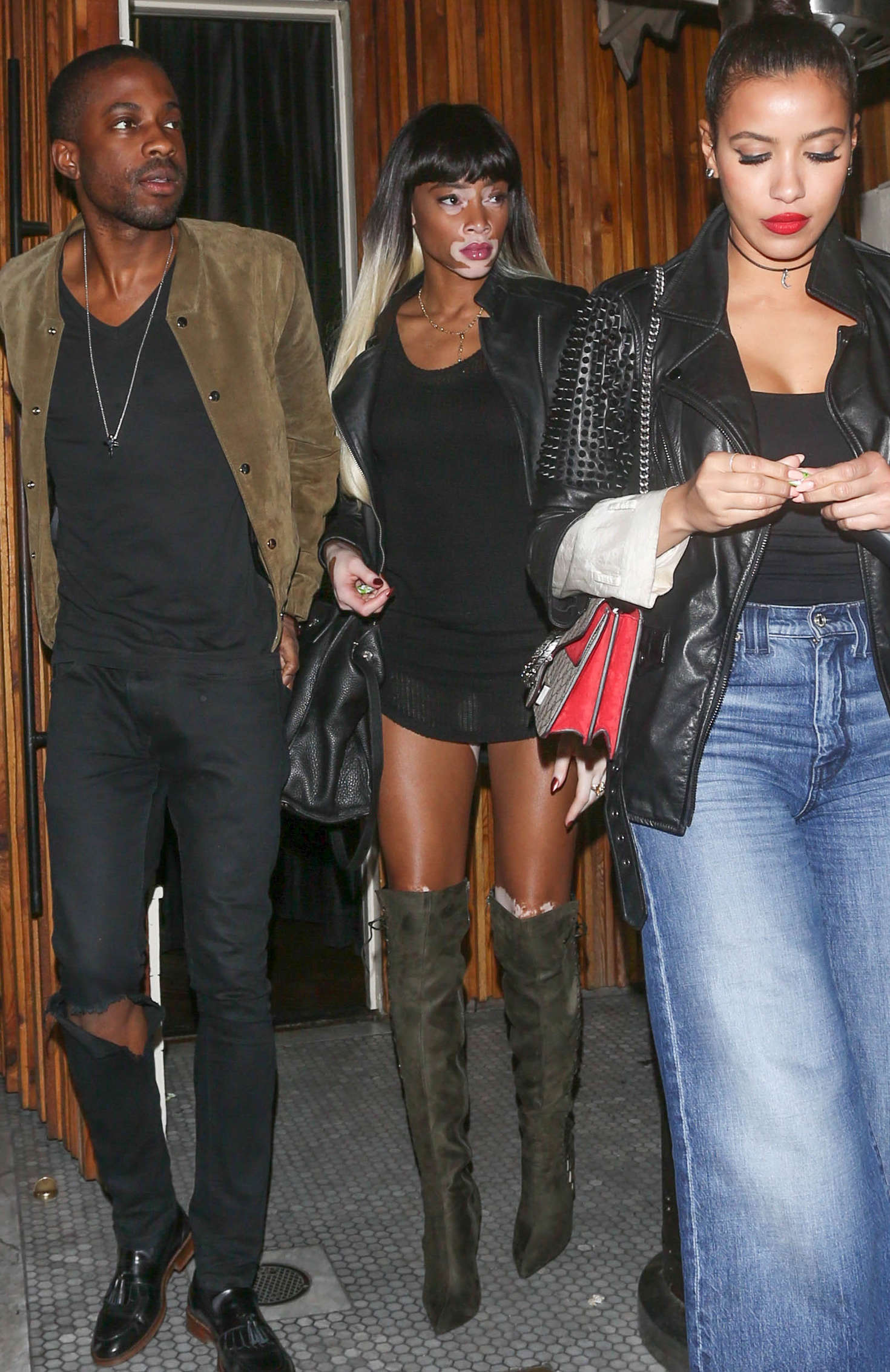 Winnie Harlow Leaves an restaurant in Hollywood