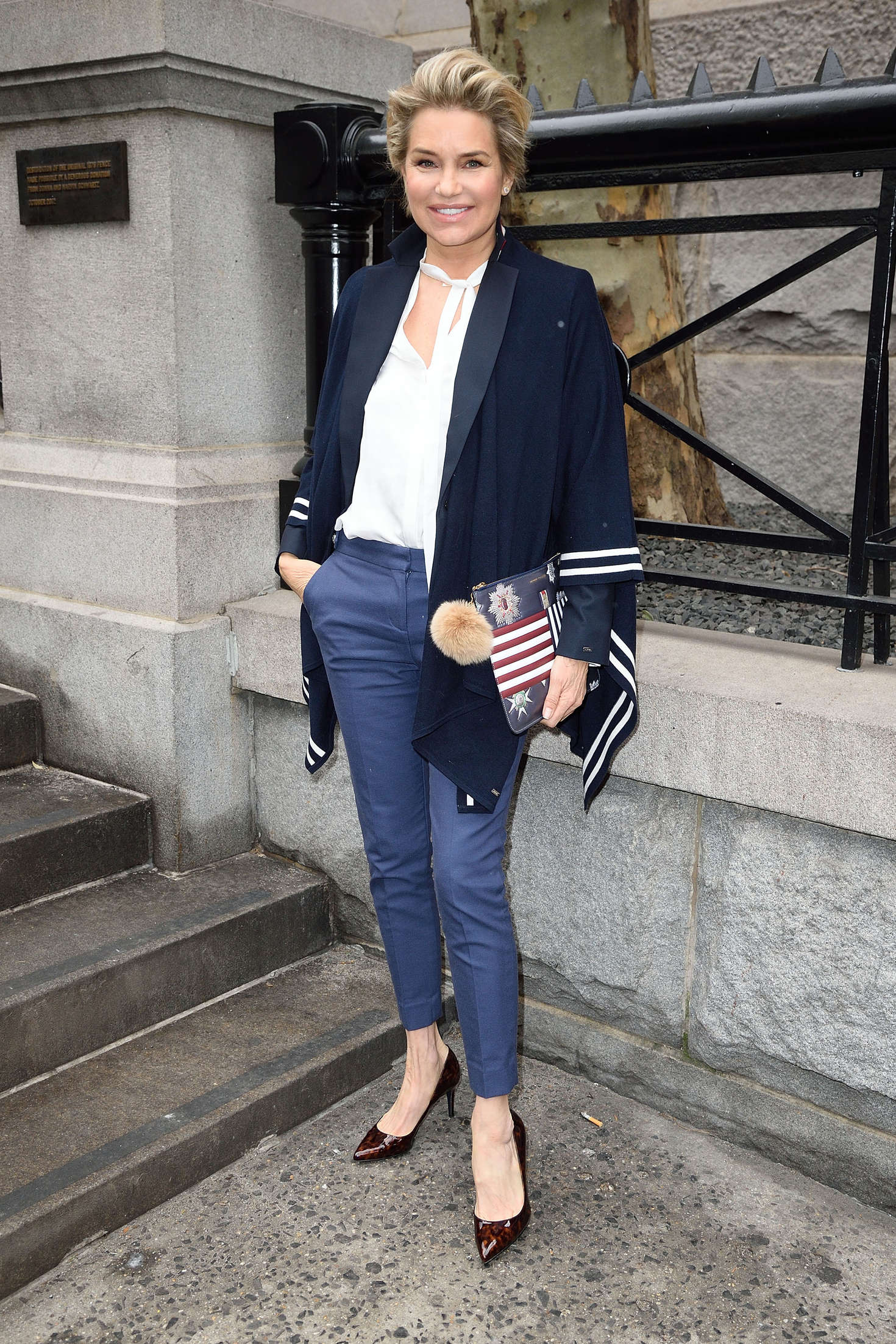 Yolanda Foster Arriving at Tommy Hilfiger Fashion Show in New York