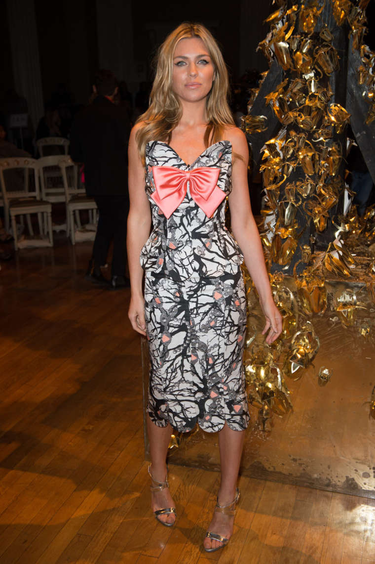 Abbey Clancy GILES SS LFW in London