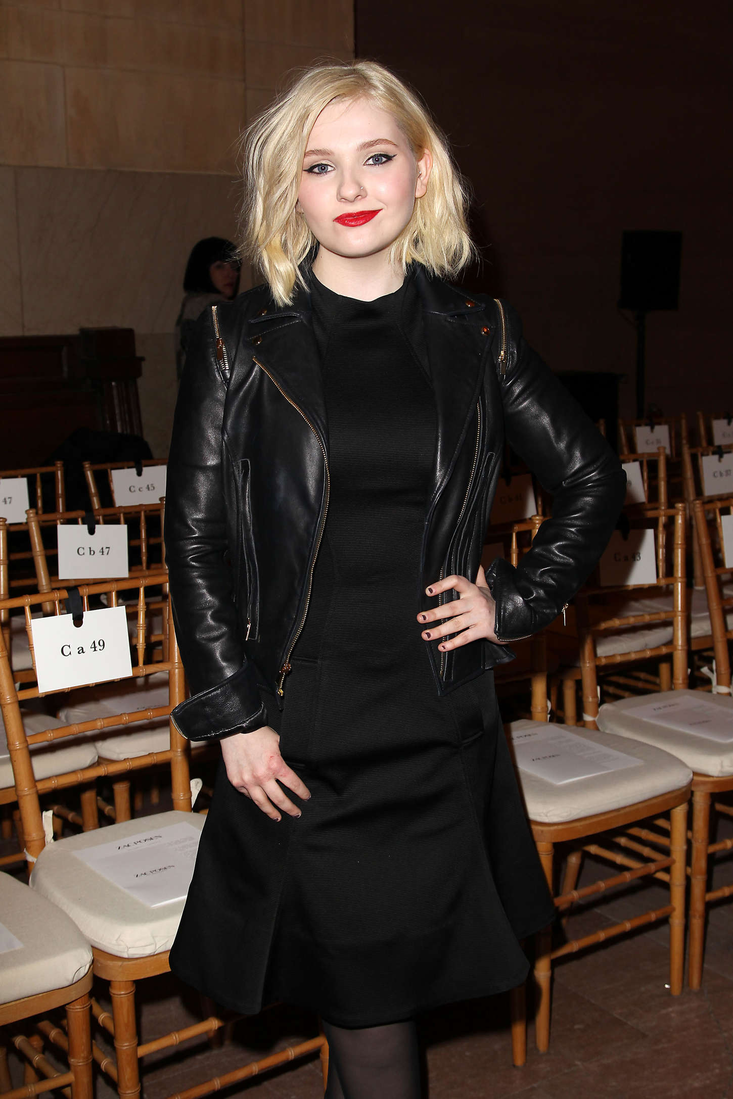 Abigail Breslin Zac Posen Fashion Show in New York
