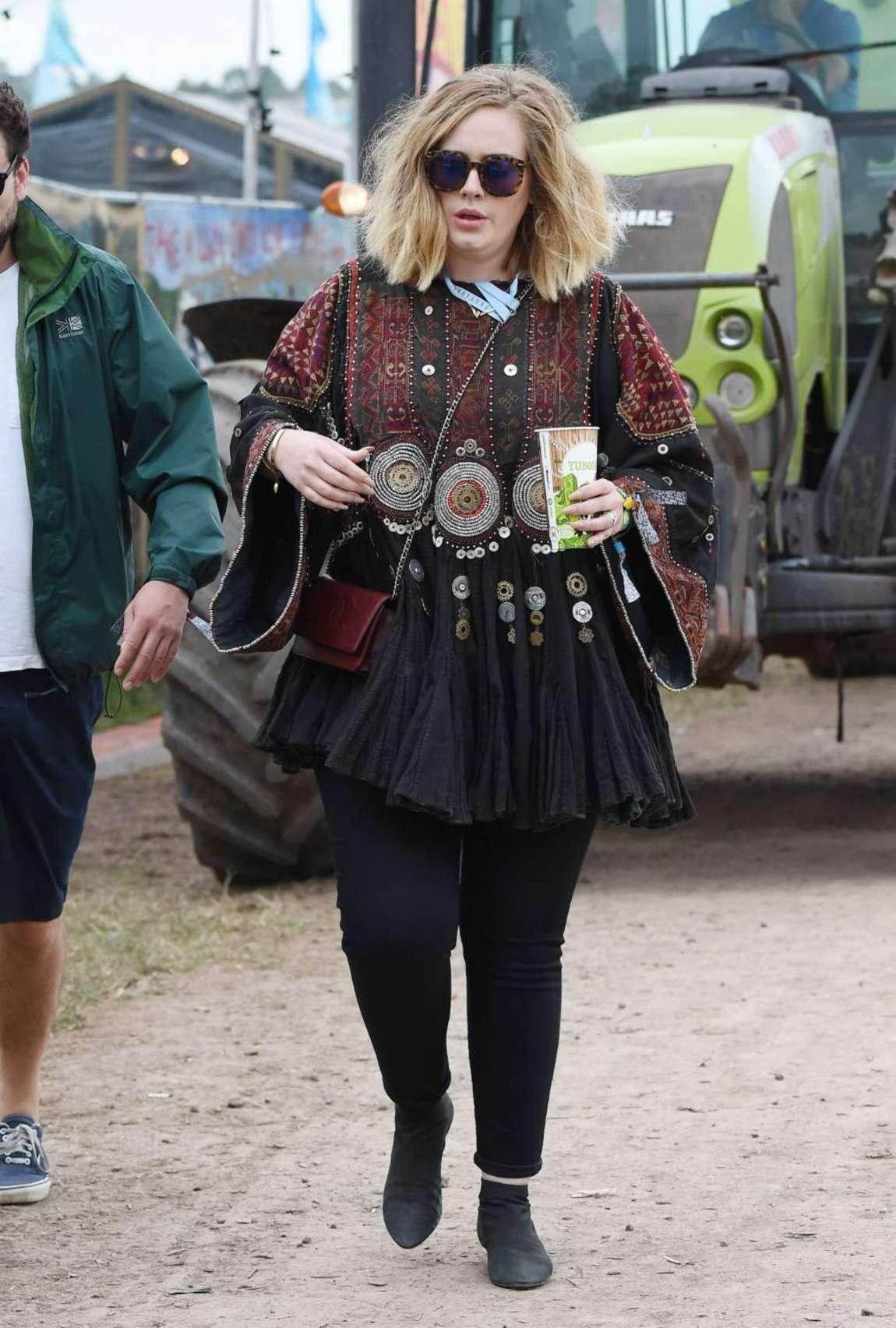 Adele Day of the Glastonbury Festival in Glastonbury