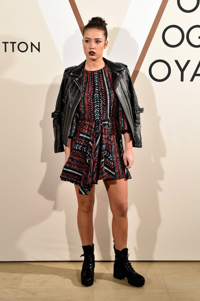 Adele Exarchopoulos Louis Vuitton Volez Voguez Voyagez Exhibition in Paris
