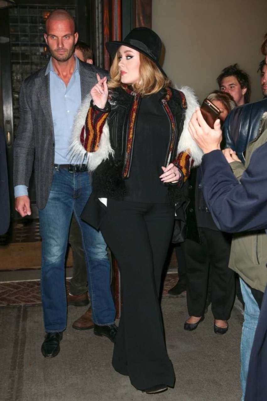 Adele Out in New York