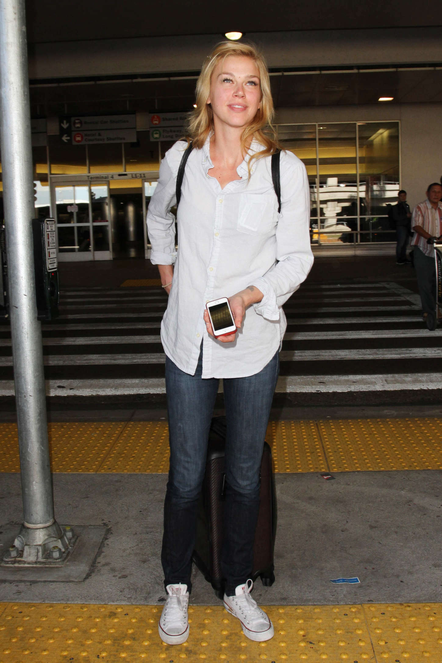 Adrianne Palicki Arrives at LAX Airport in Los Angeles
