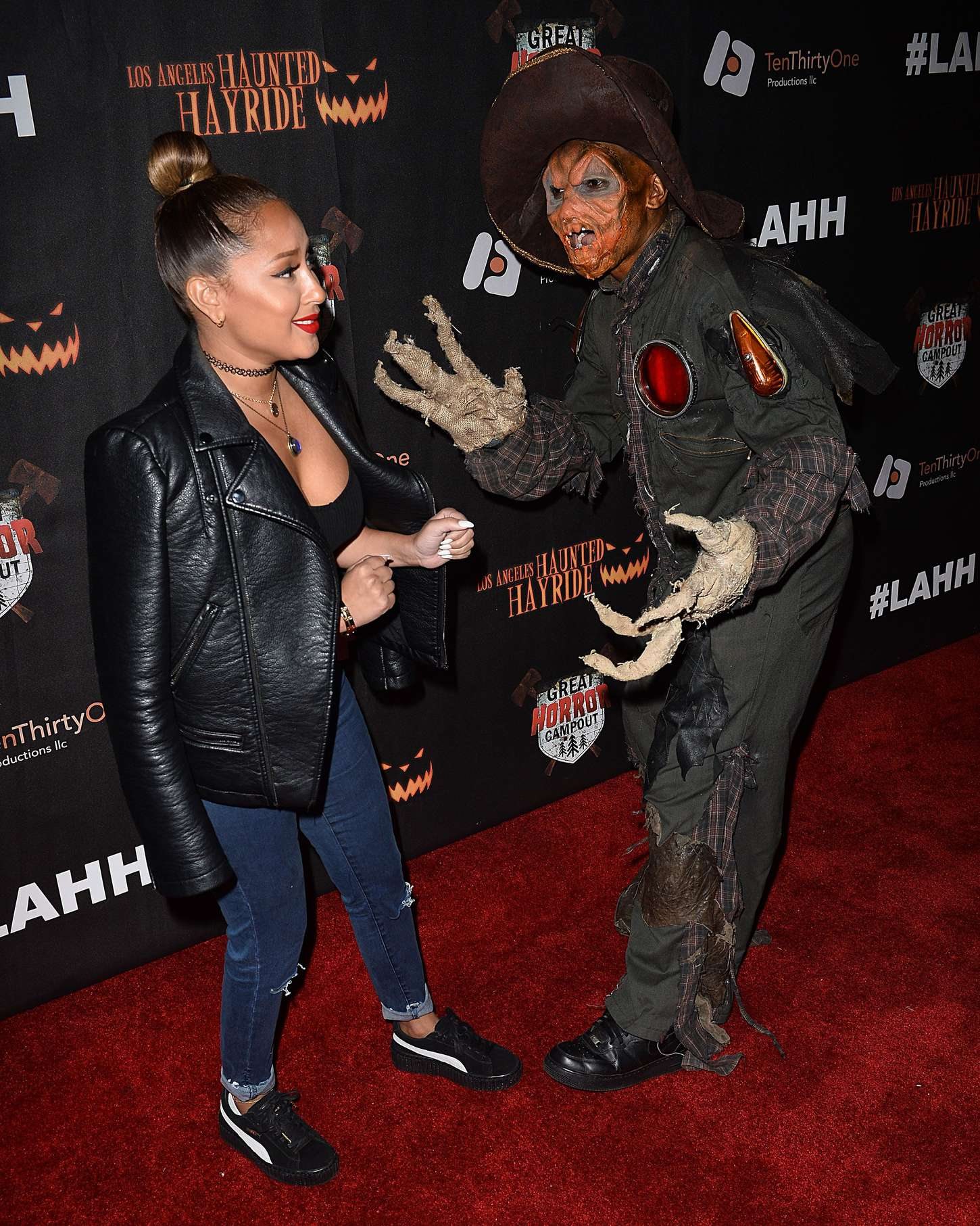 Adrienne Bailon Los Angeles Haunted Hayride Black Carpet Premiere Night