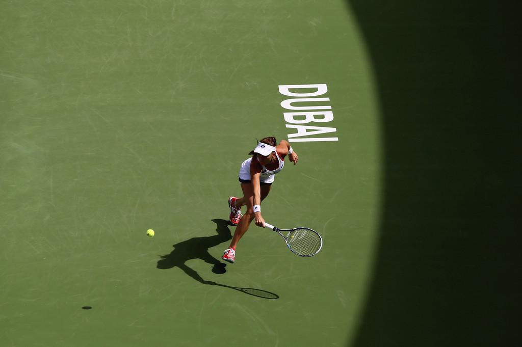 Agnieszka Radwanska WTA Dubai Duty Free Tennis Championship in Dubai