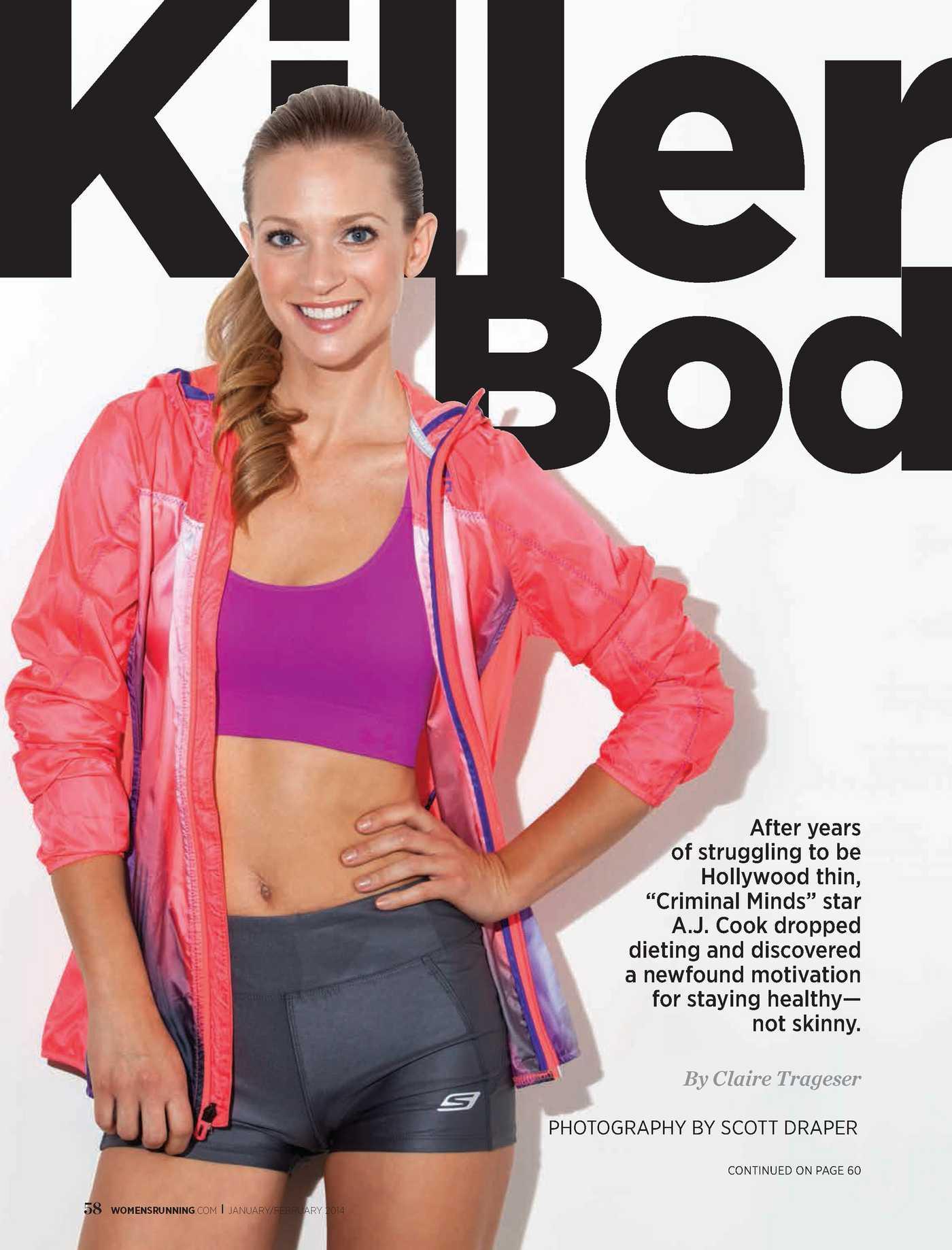 AJ Cook Womens Running Magazine