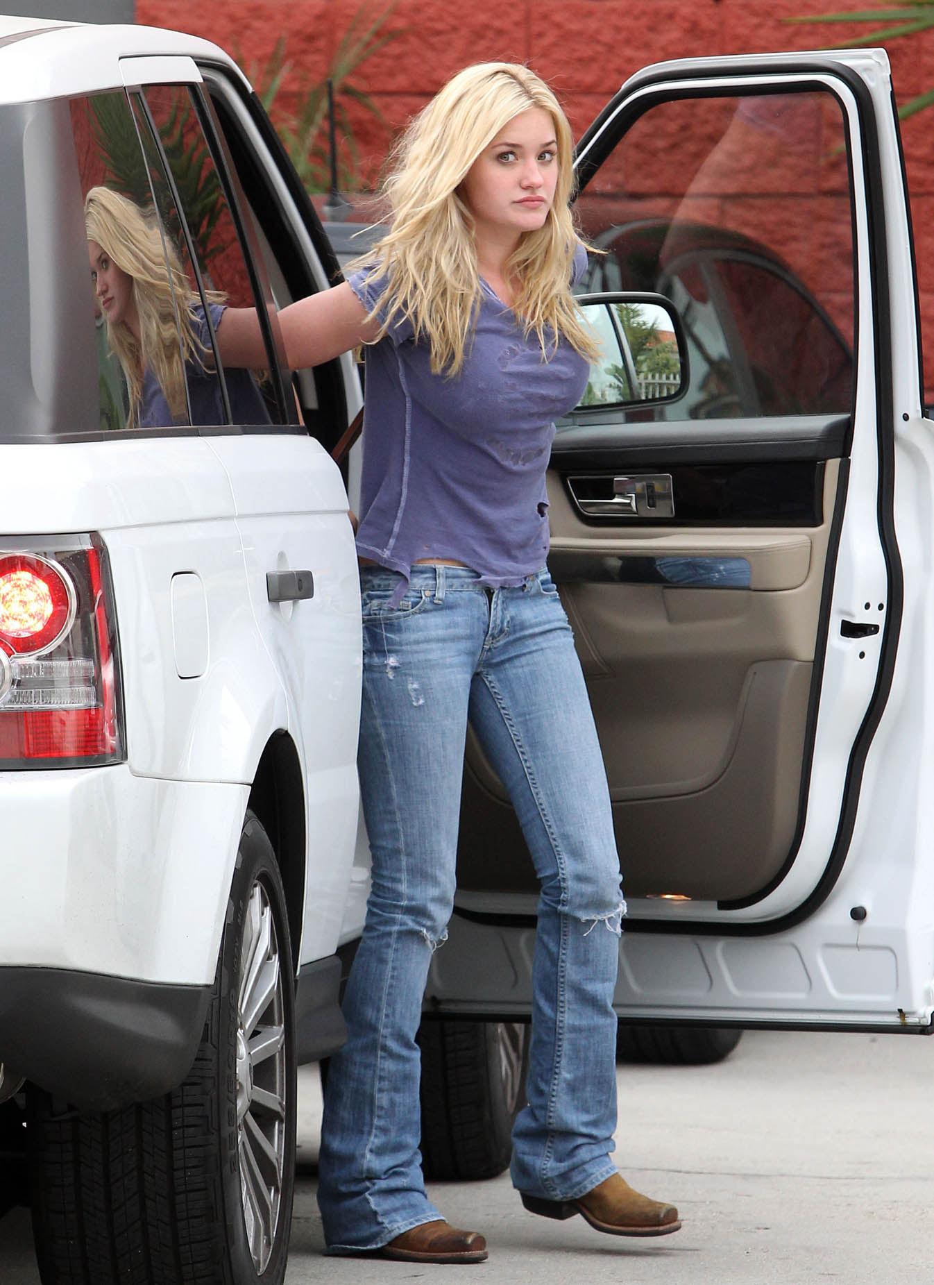 AJ Michalka Candids In Beverly Hills