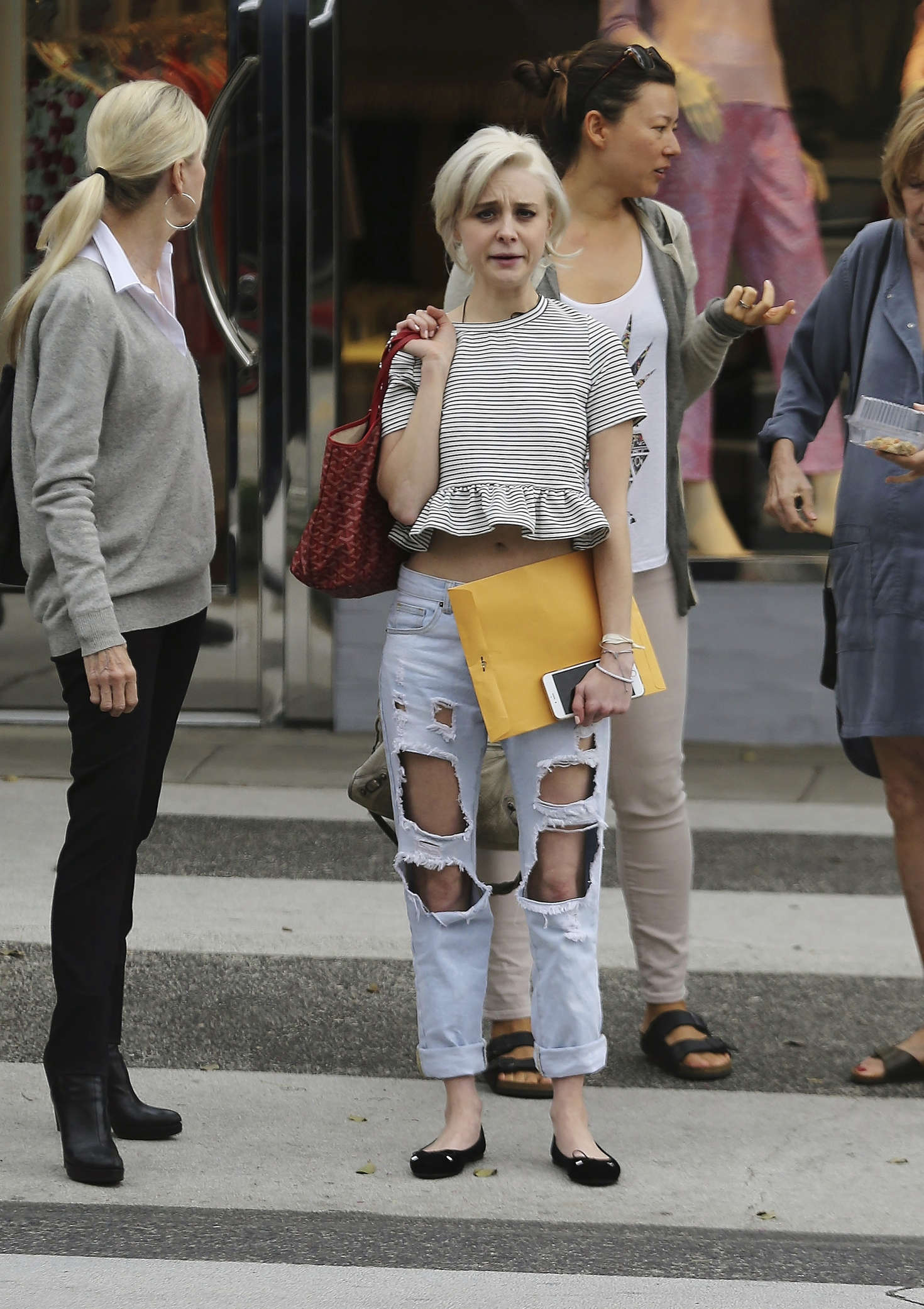 Alessandra Torresani in Ripped Jeans out in Beverly Hills