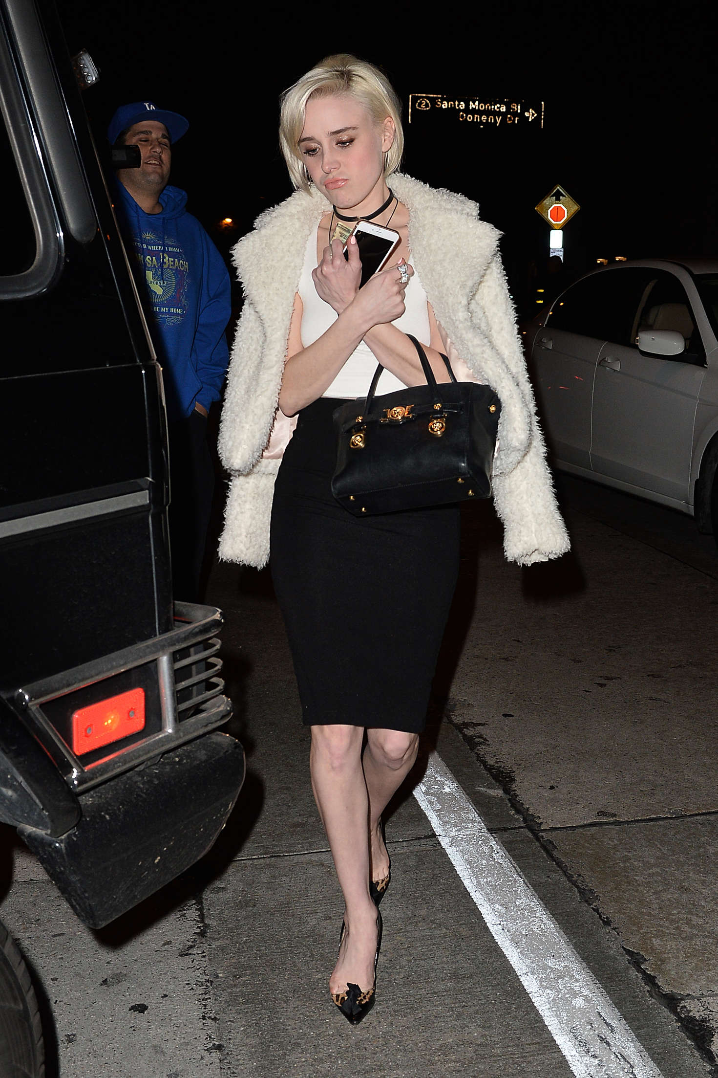 Alessandra Torresani Leaves a Restaurant in Los Angeles