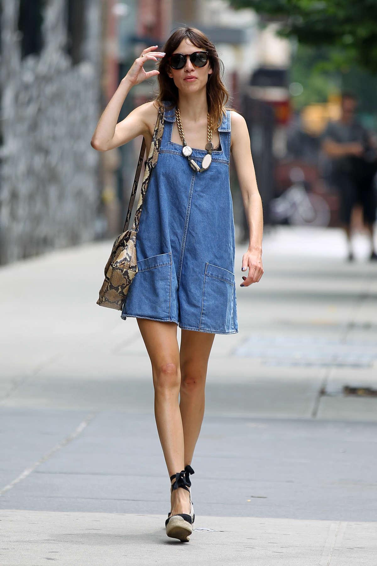 Alexa Chung go out SoHo