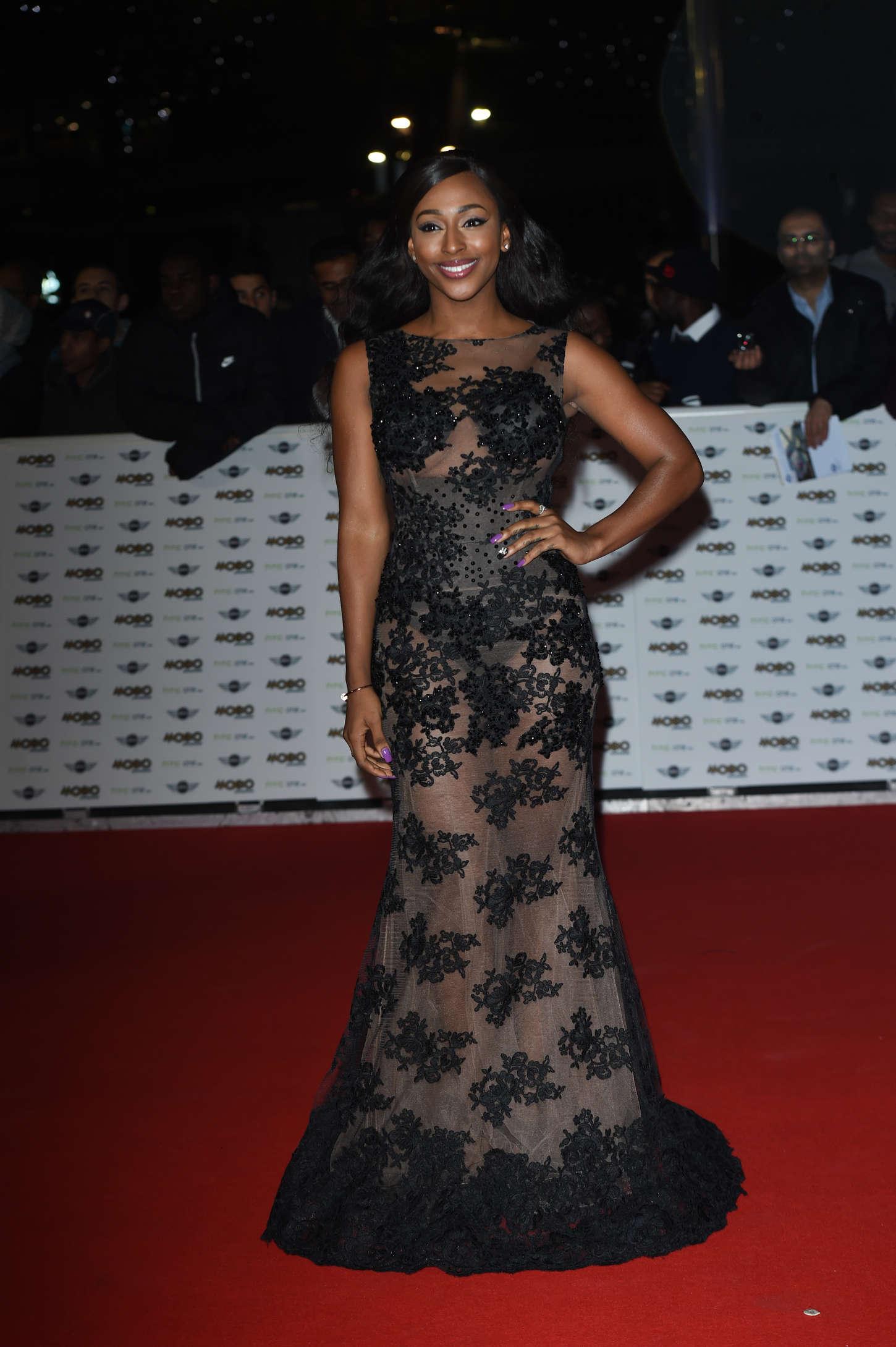 Alexandra Burke MOBO Awards in London