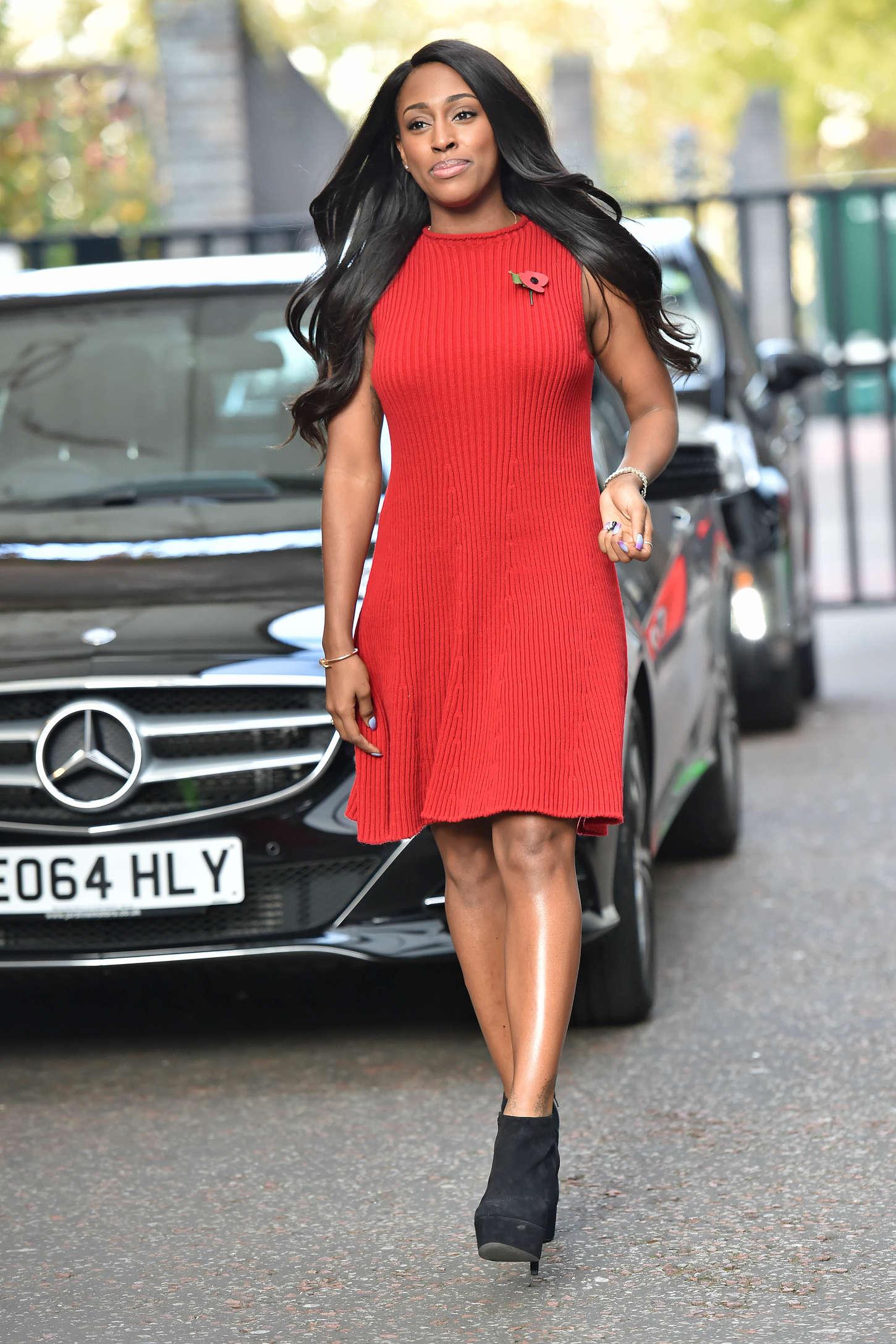 Alexandra Burke Seen outside the London Studios