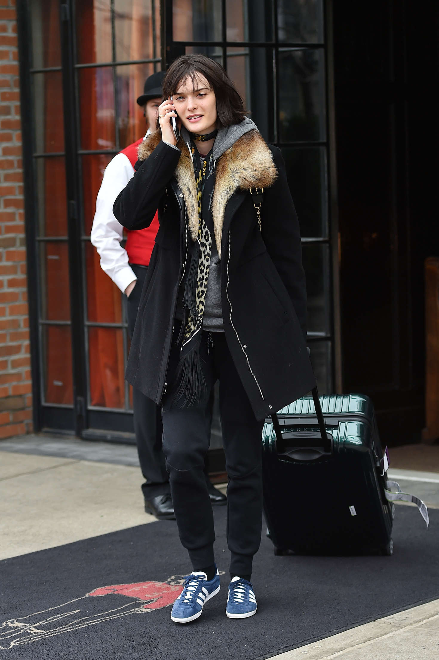Ali Lohan Leaves East Village Hotel in New York
