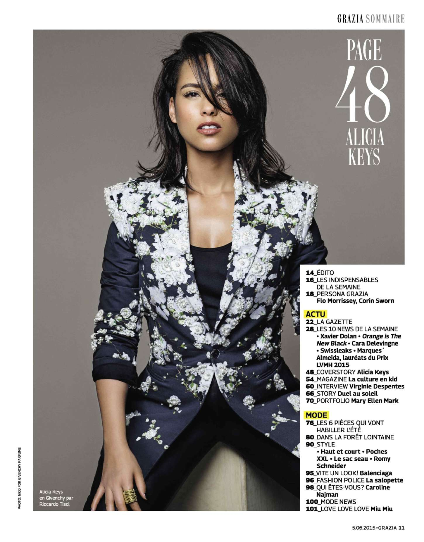 Alicia Keys Grazia Magazine