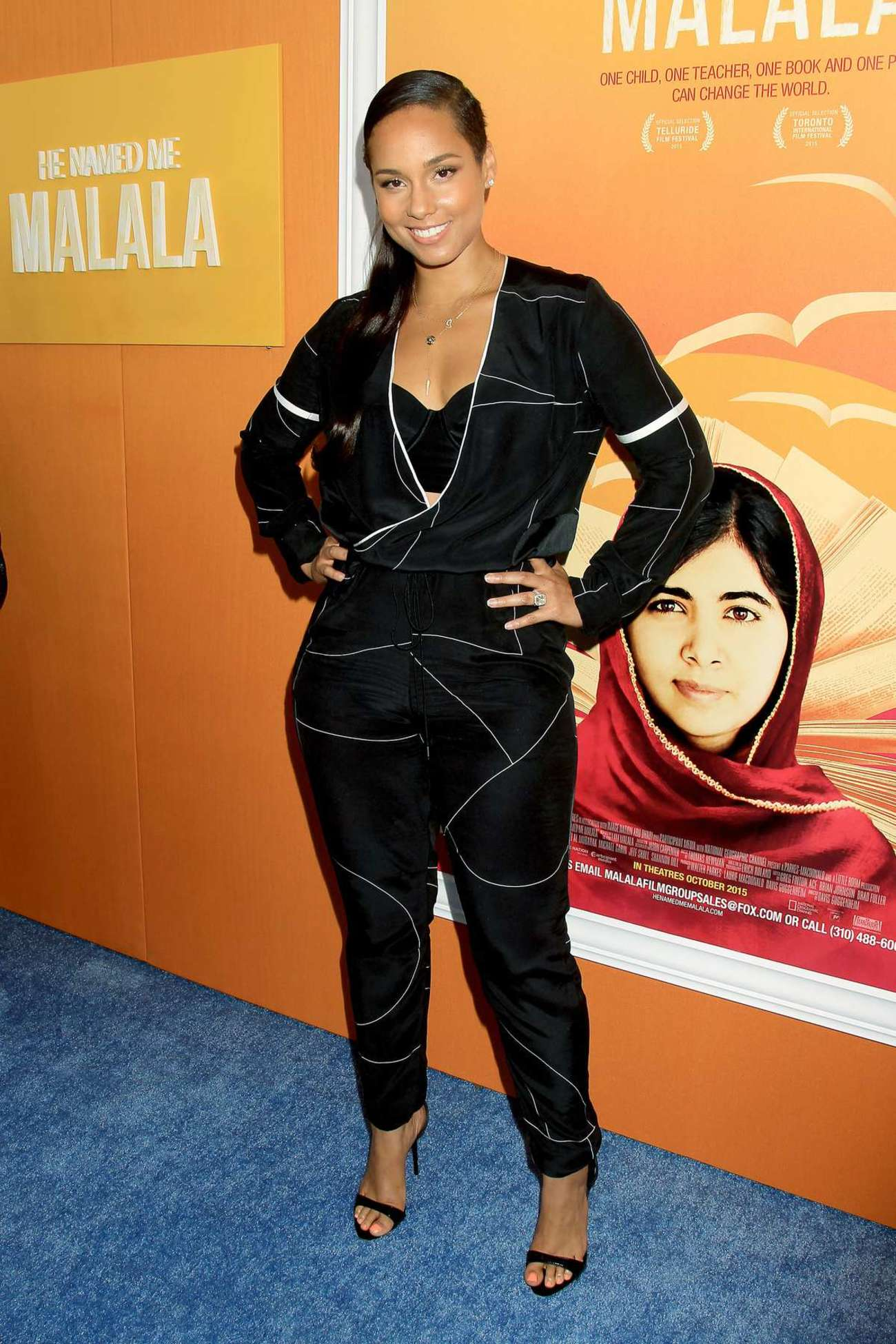 Alicia Keys He Named Me Malala Premiere in New York