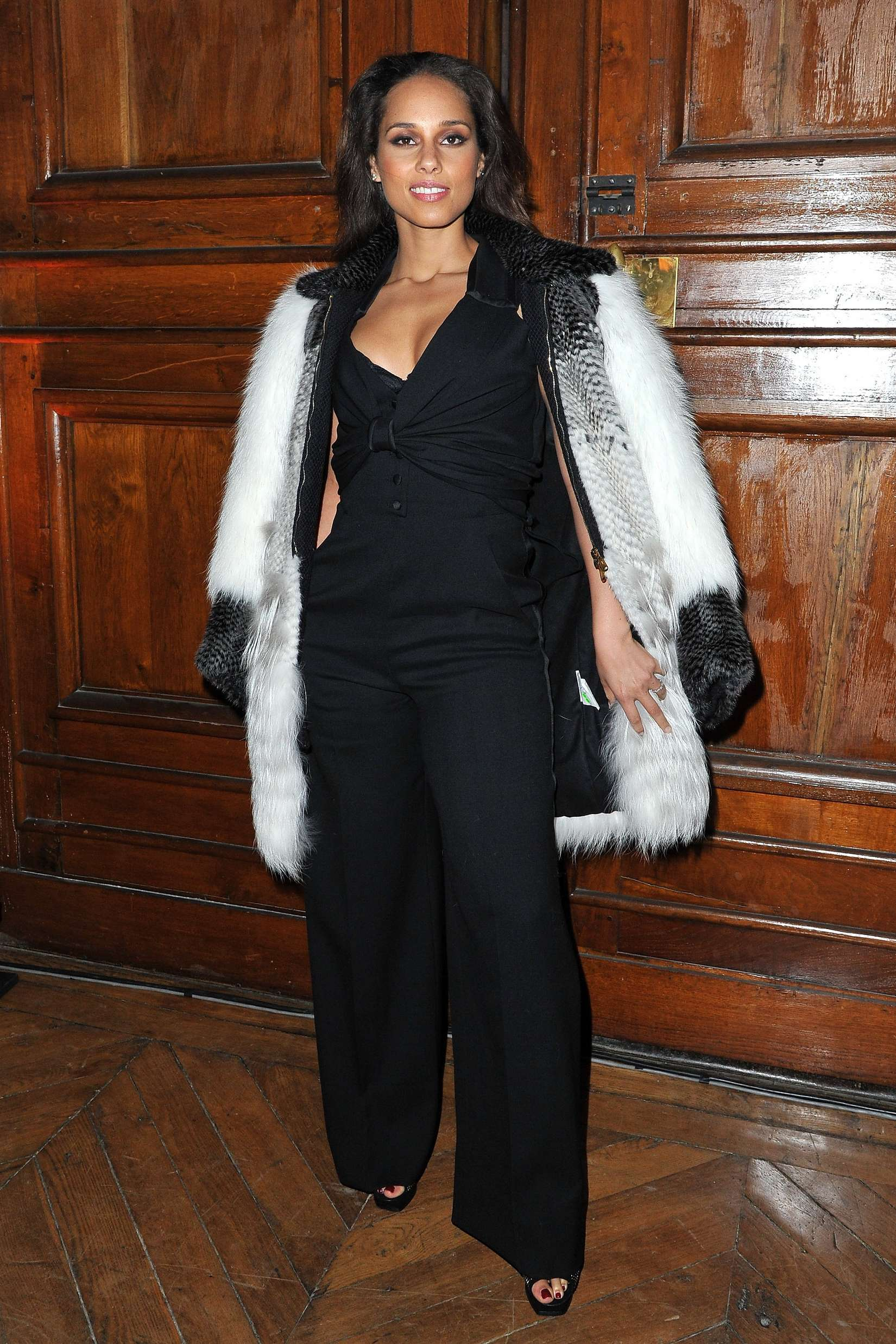 Alicia Keys Yves Saint-Laurent Ready-to-Wear Fall/Winter Fashion Show