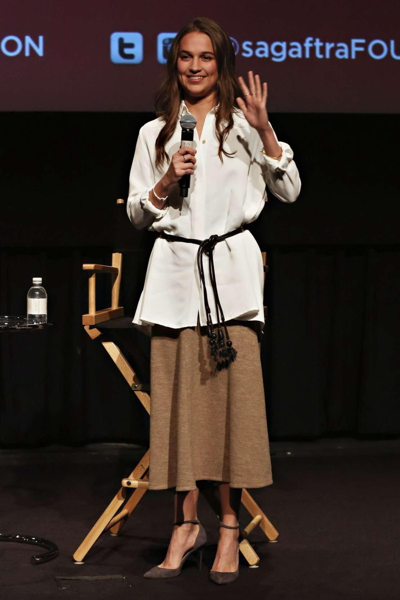 Alicia Vikander SAG-AFTRA screening of The Danish Girl in New York