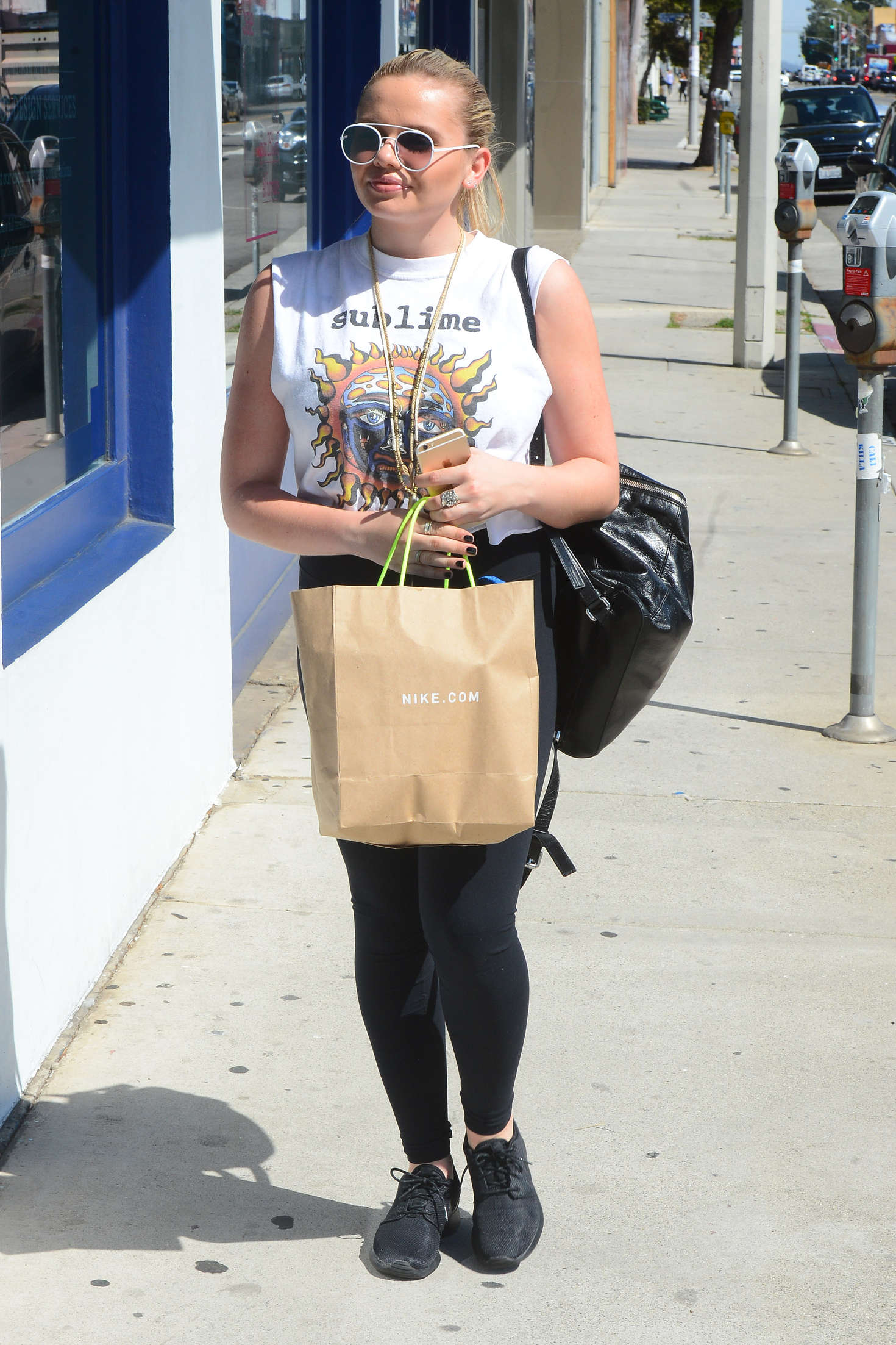 Alli Simpson at Nasty Gal on Melrose Los Angeles