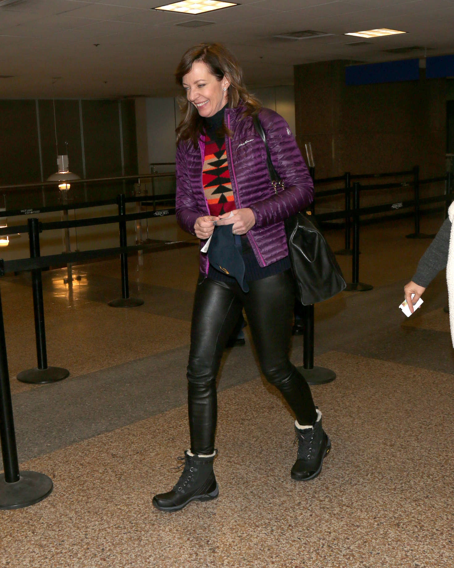 Allison Janney at Salt Lake City International Airport in Park City
