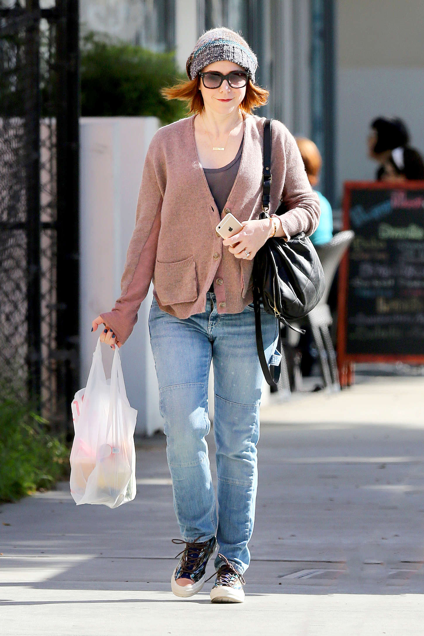 Alyson Hannigan Out in Santa Monica