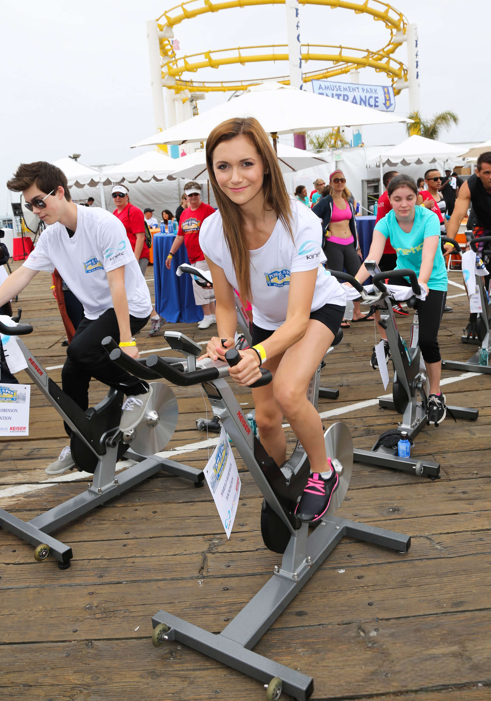 Alyson Stoner Pedal on the Pier in Santa Monica