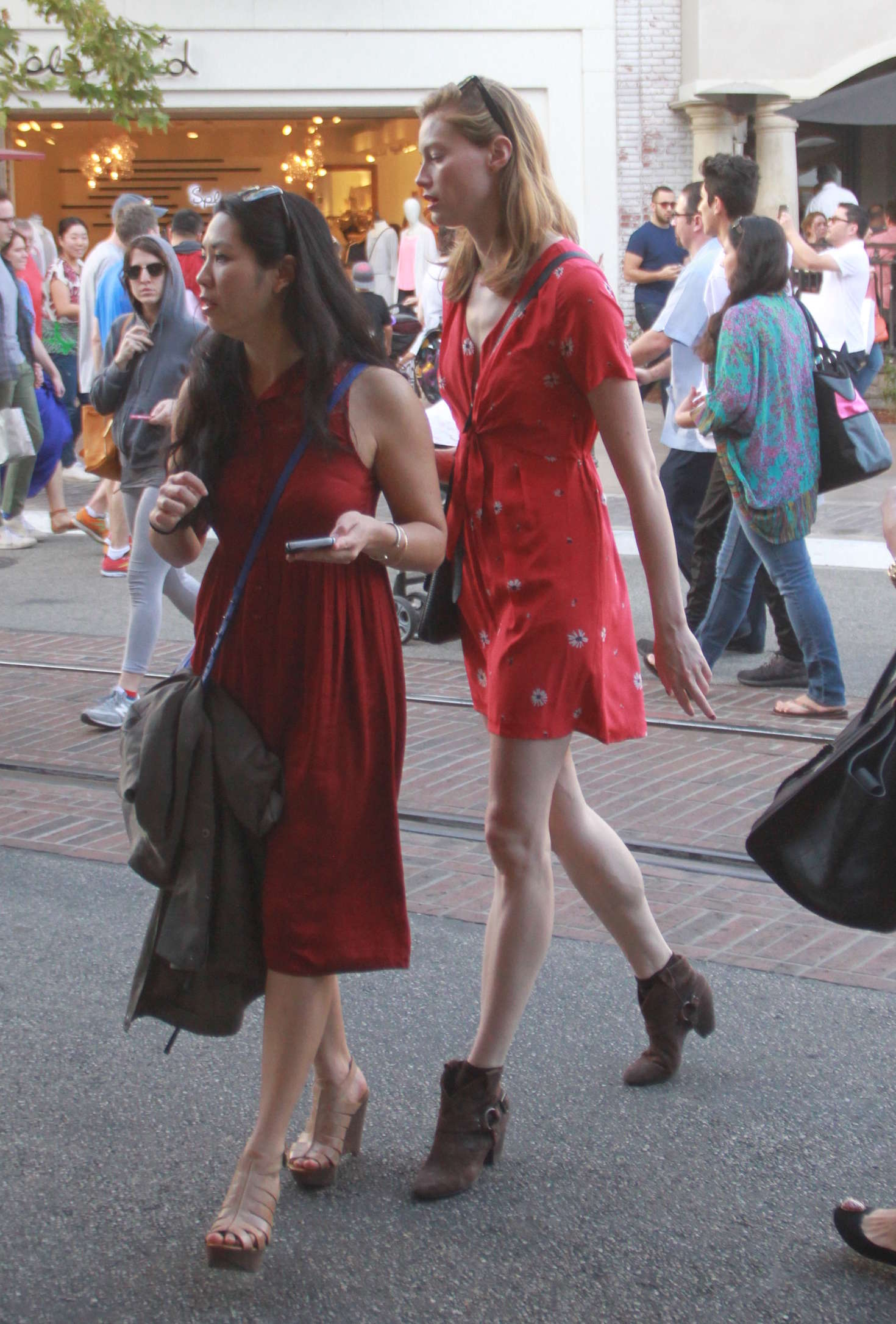 Alyssa Sutherland with Shopping at the Grove in Hollywood