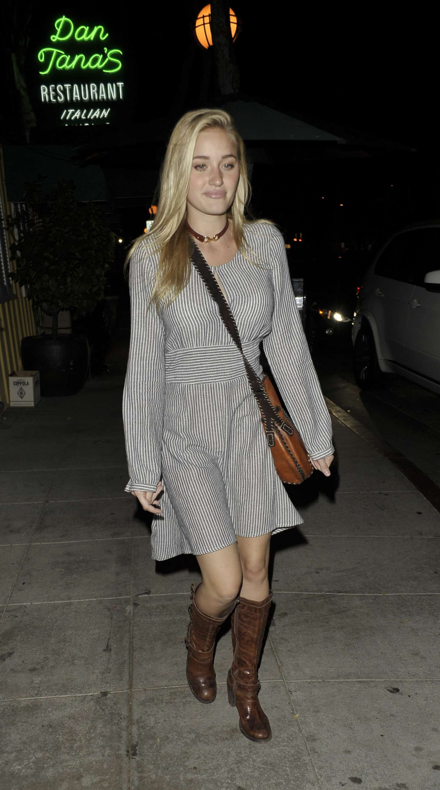 Amanda AJ Michalka Leaving the Troubadour in West Hollywood