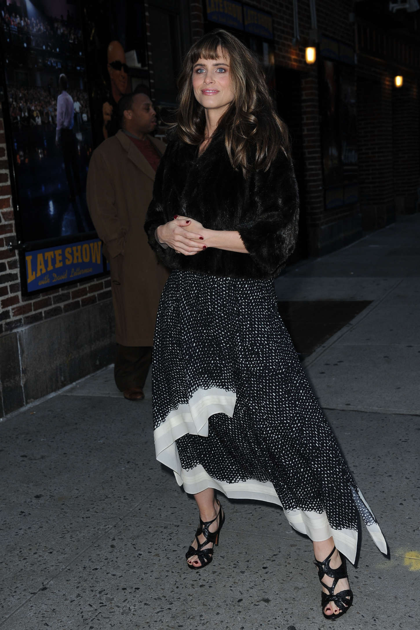 Amanda Peet Arriving at The Late Show with David Letterman in New York-1