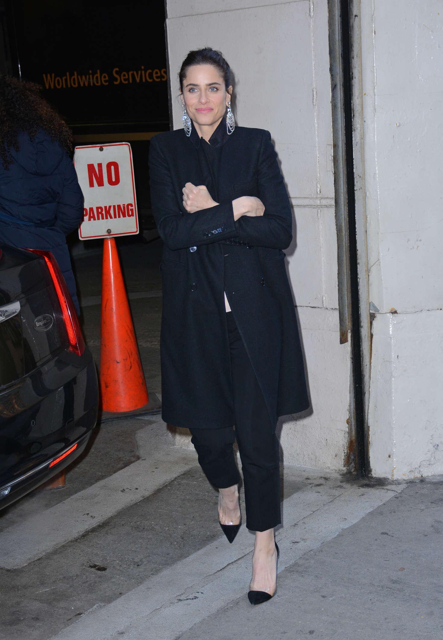 Amanda Peet at AOL BUILD studios in New York