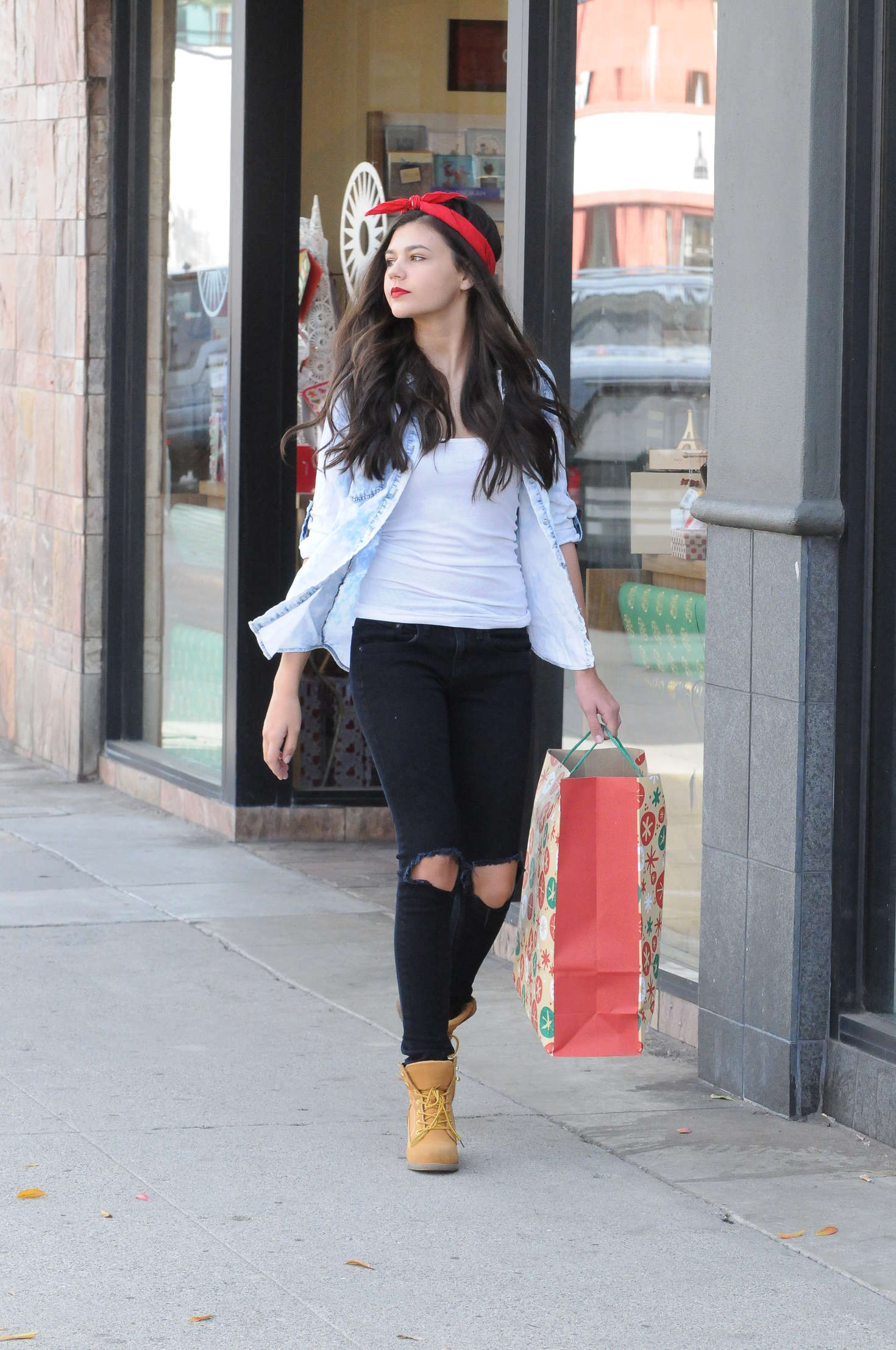 Amber Montana Shopping for Christmas in Studio City