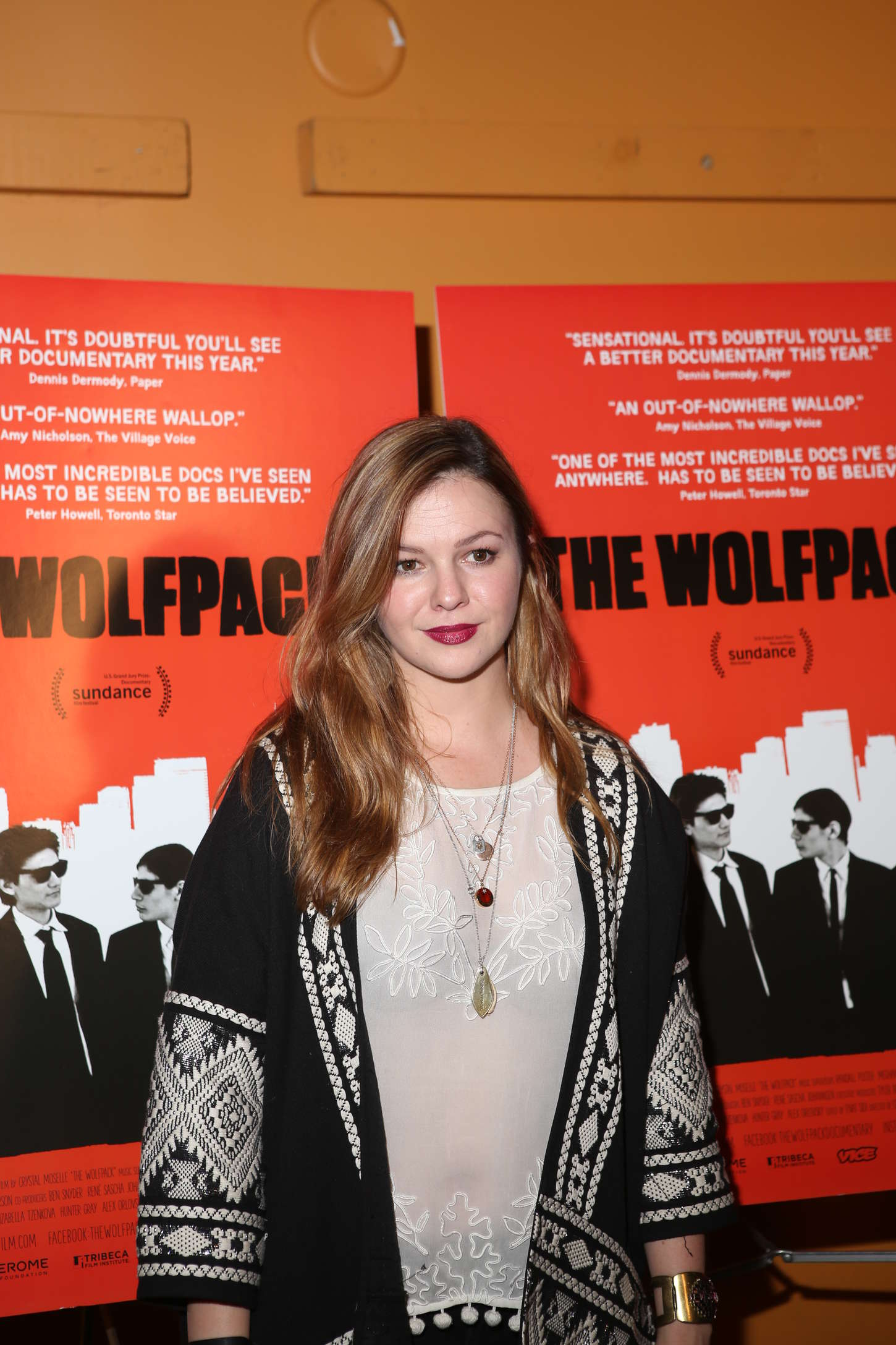 Amber Tamblyn The Wolfpack Premiere in New York