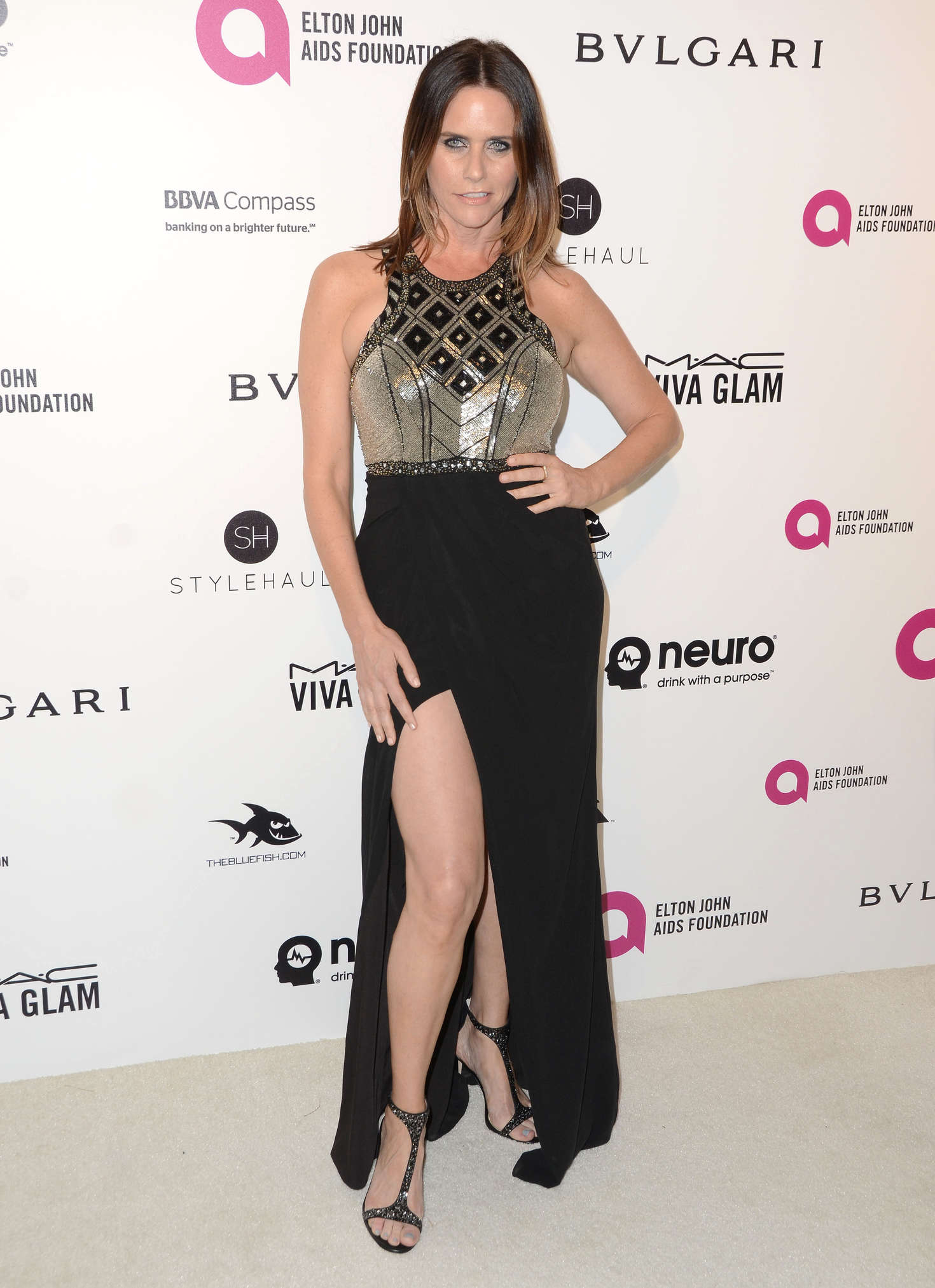 Amy Landecker Elton John AIDS Foundations Oscar Viewing Party in West Hollywood