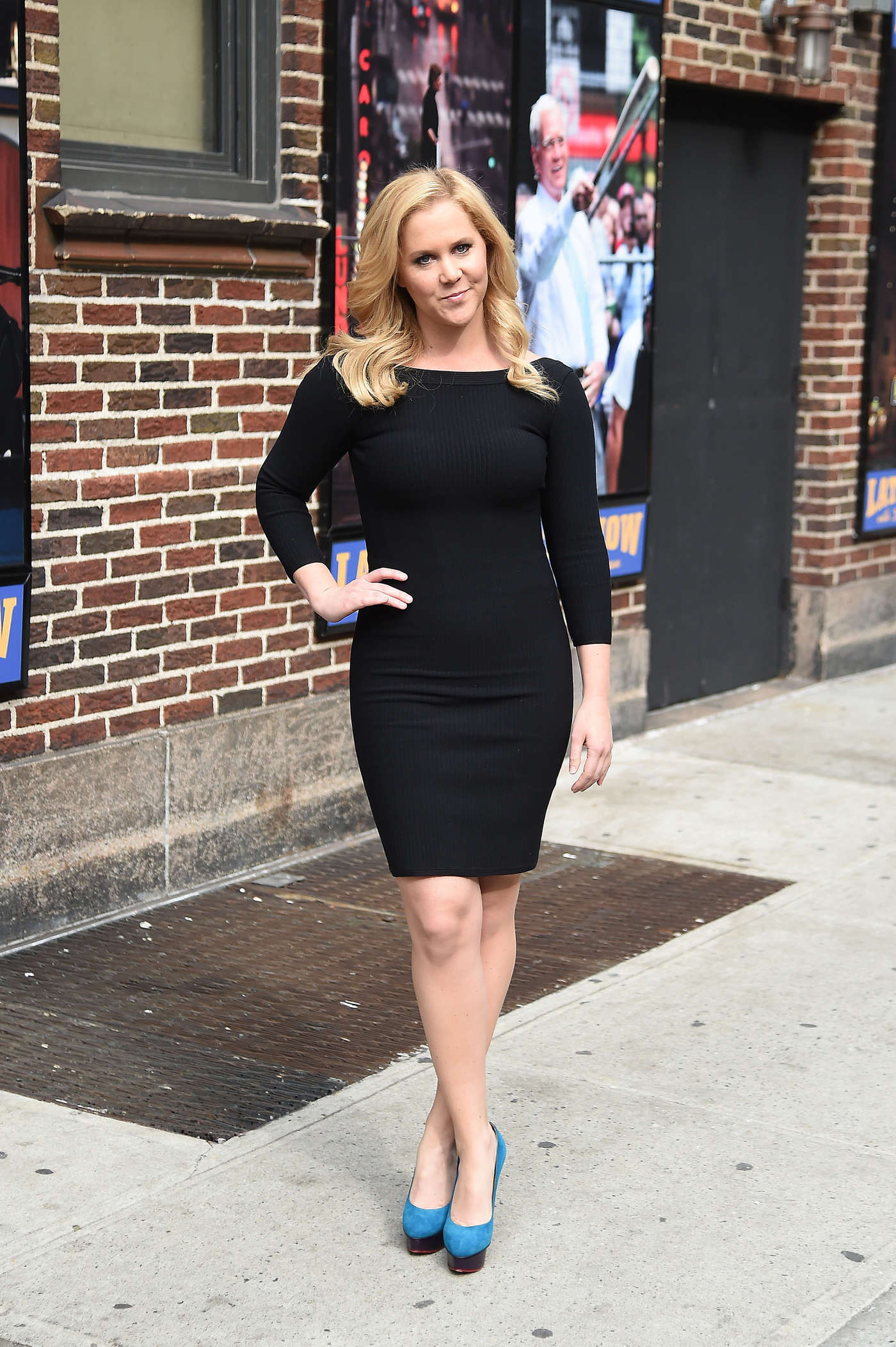 Amy Schumer at the David Letterman Show in New York City