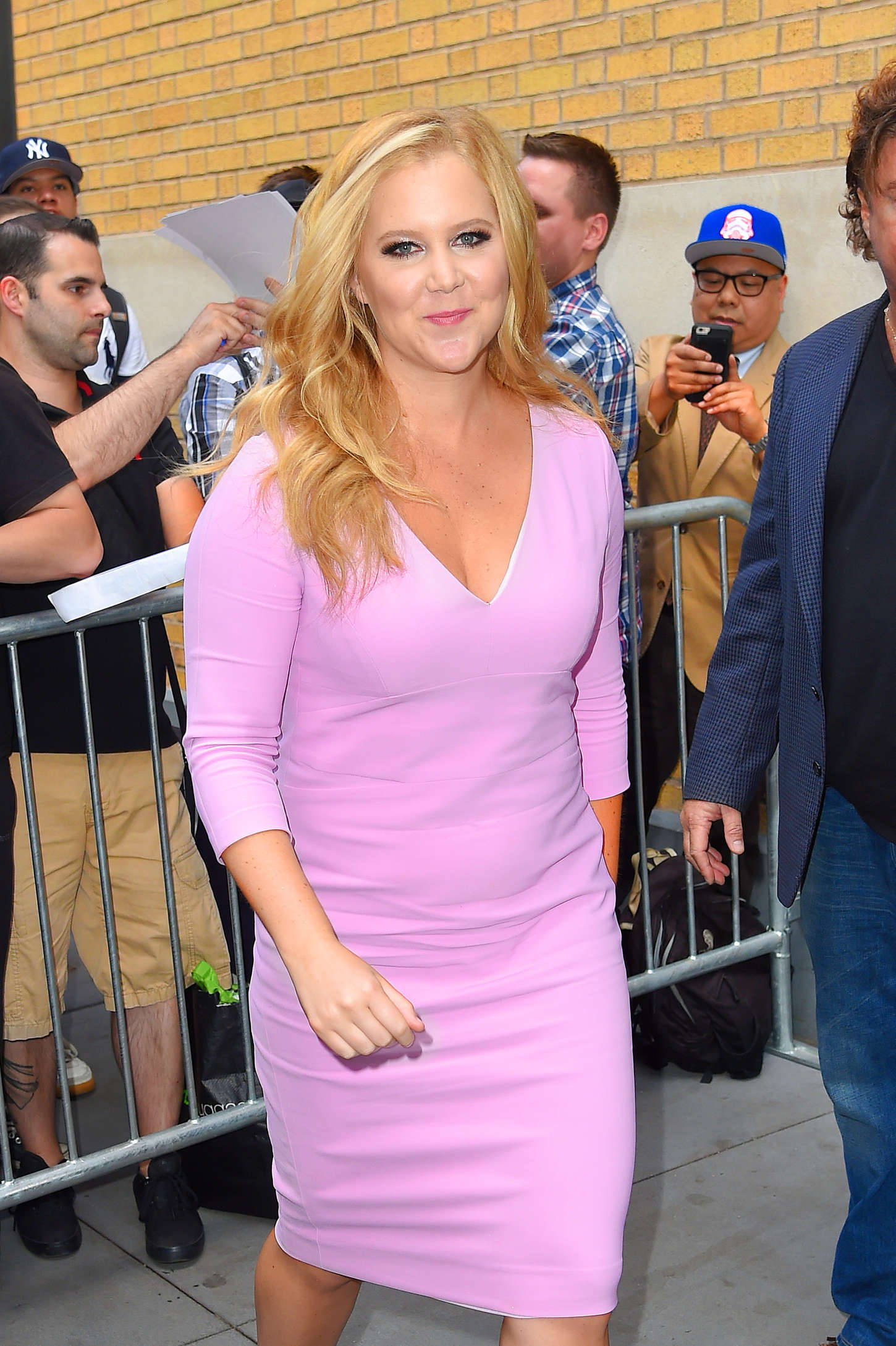 Amy Schumer Outside the Apple store in Soho